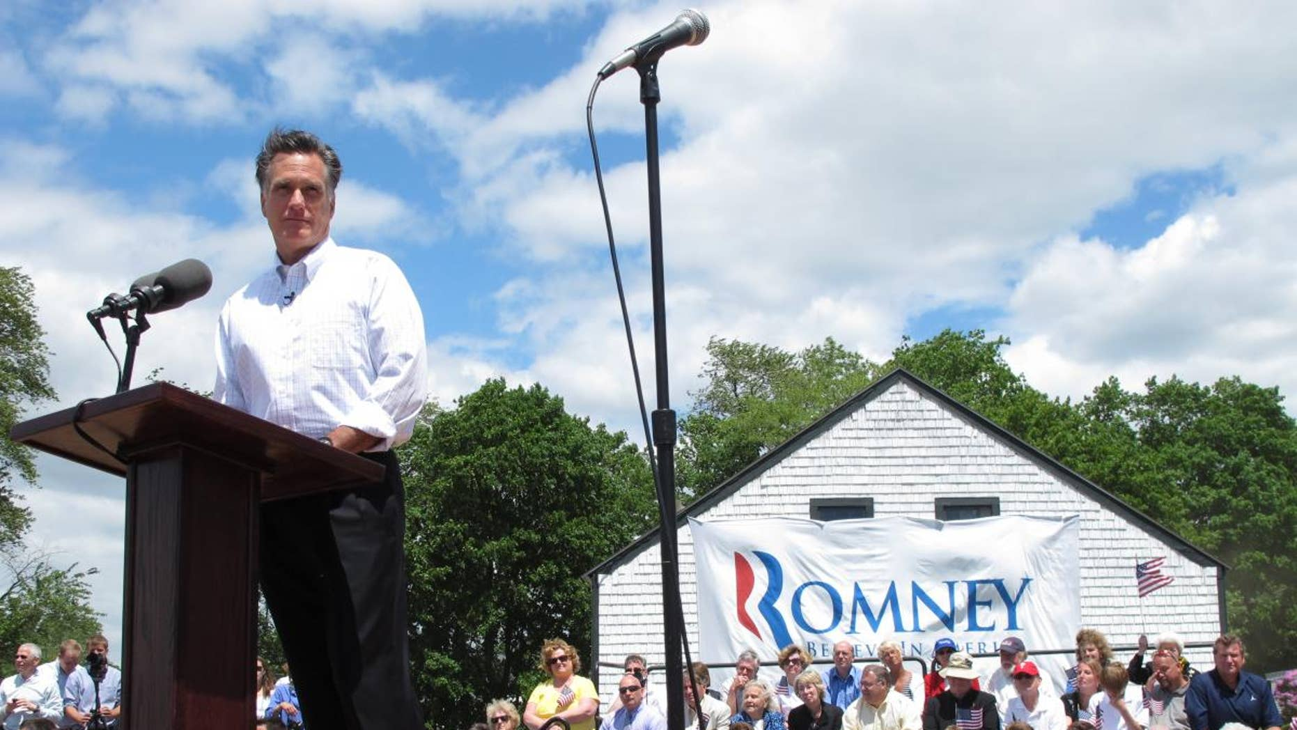 Former Gov. Mitt Romney announcing his candidacy for the Republican nomination June 2, 2011. (FOX News Photo)