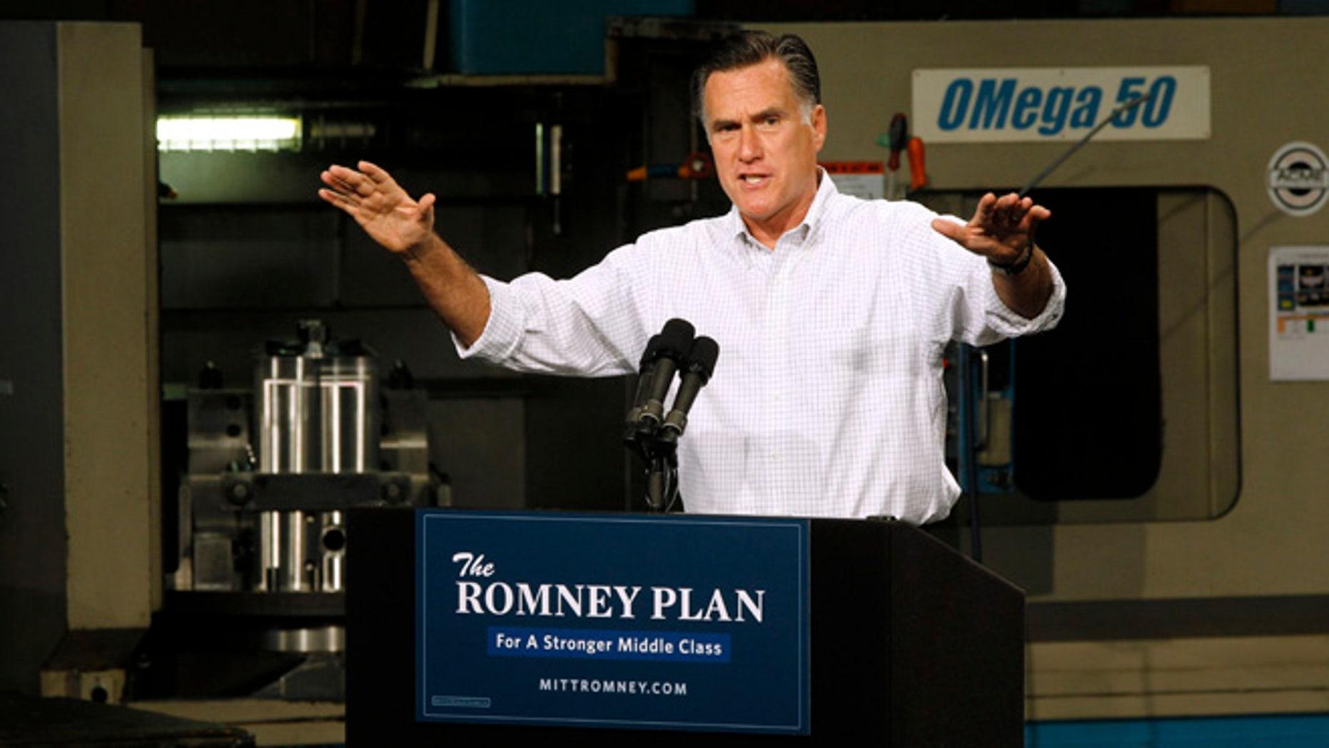 Aug. 7, 2012: Mitt Romney campaigns in Elk Grove Village, Ill.