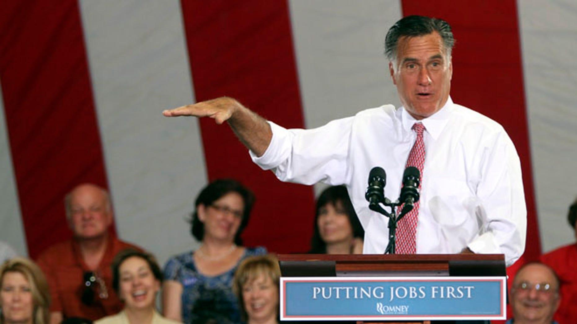 May 29, 2012: Mitt Romney speaks in Las Vegas.
