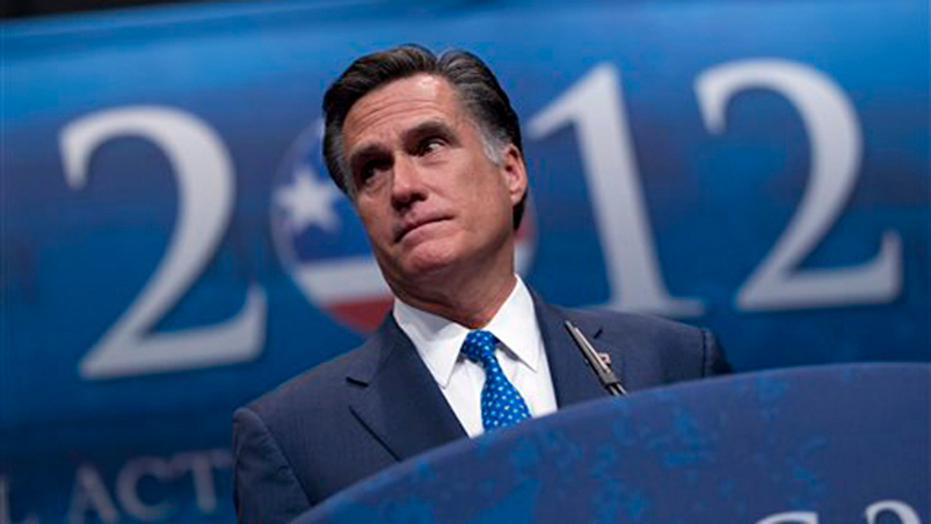 Feb. 10, 2012: Mitt Romney addresses the Conservative Political Action Conference (CPAC) in Washington.