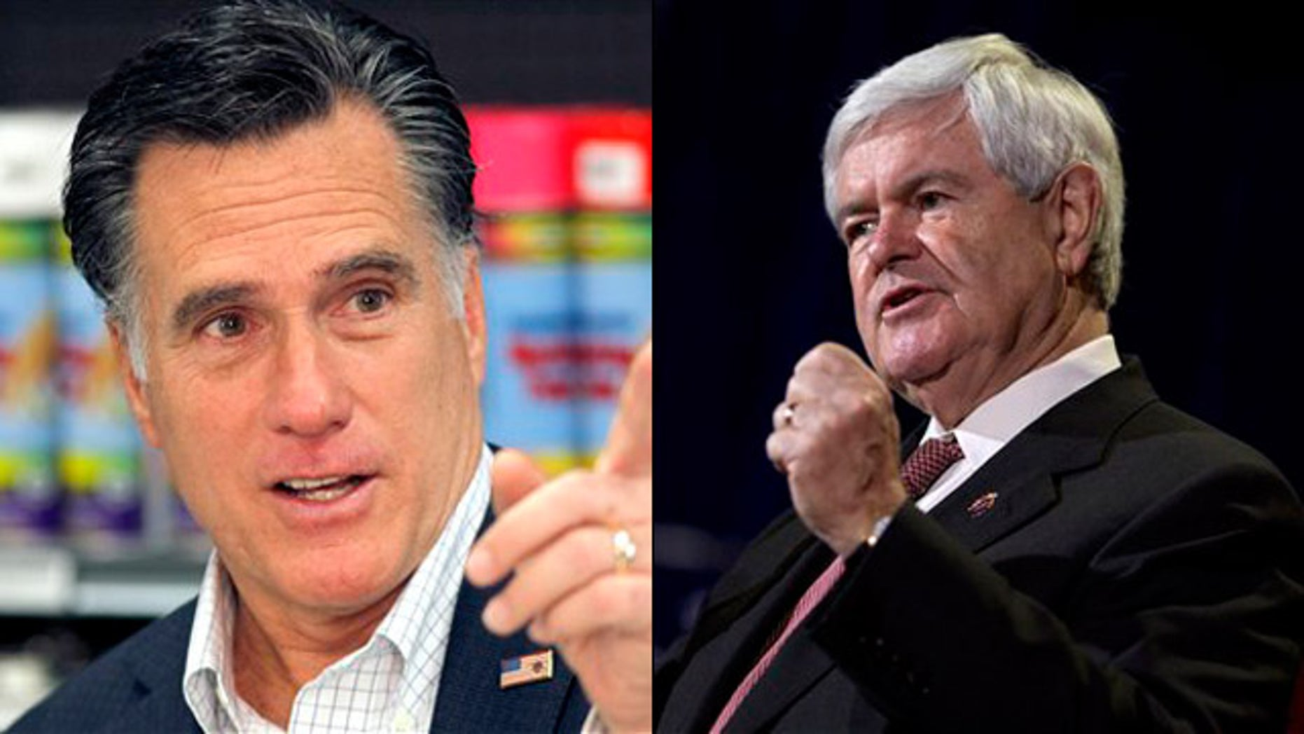 Feb. 3, 2012: Mitt Romney and Newt Gingrich campaign in Nevada ahead of the state's GOP presidential caucuses.