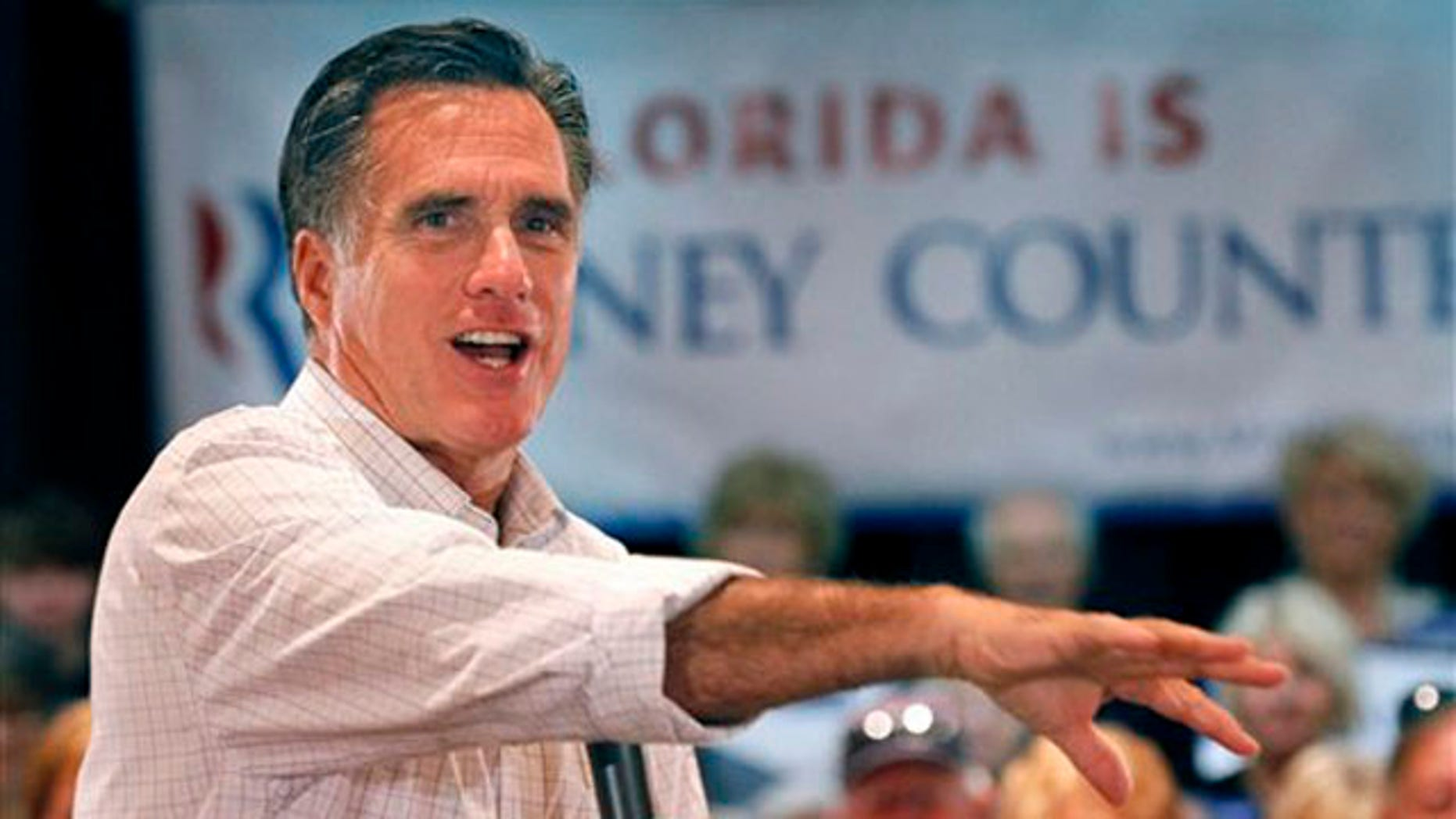 Oct. 4, 2011: Mitt Romney speaks at a town hall meeting in The Villages, Fla.