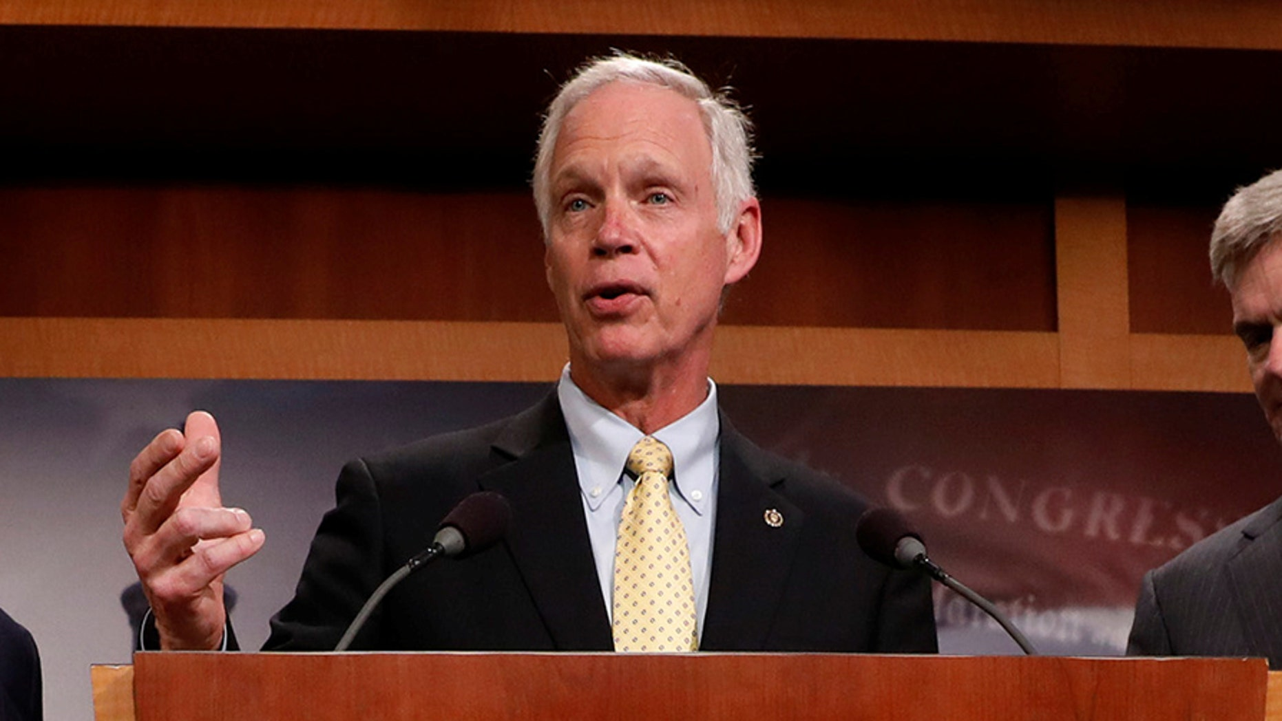 Sen. Ron Johnson, R-Wis., shown on Capitol Hill in this July 27, 2017 photo, is demanding answers on what he calls an ObamaCare carve-out for Congress.