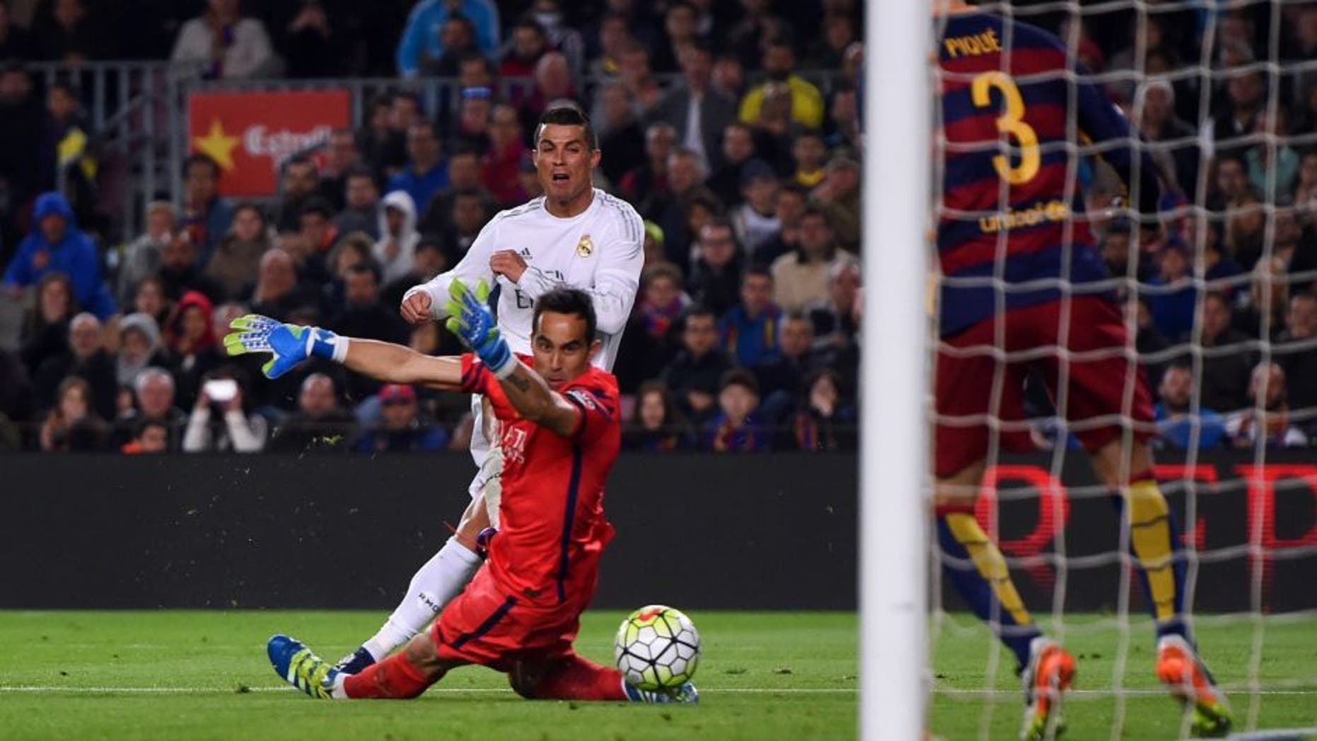 xxxx during the La Liga match between FC Barcelona and Real Madrid CF at Camp Nou on April 2, 2016 in Barcelona, Spain.