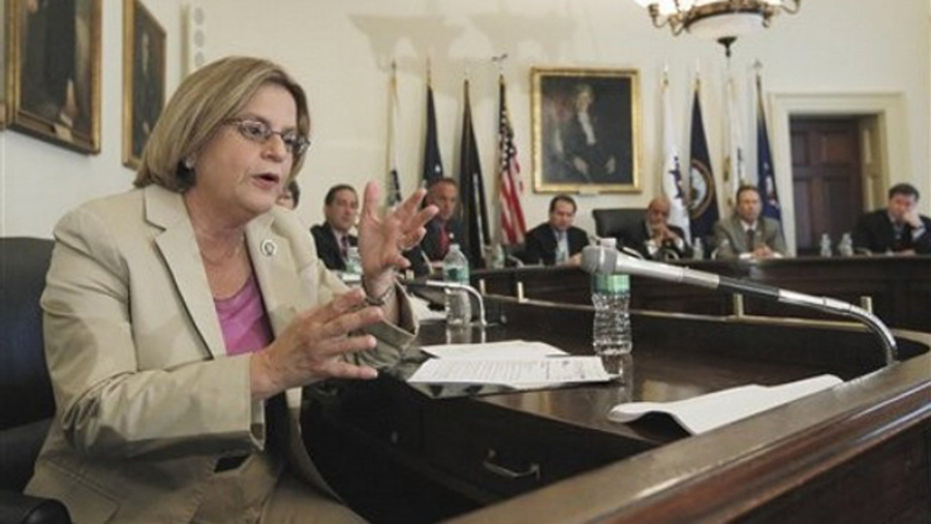 In this May 19, 2010, file photo, Rep. Ileana Ros-Lehtinen, left, gestures during a meeting on Capitol Hill.