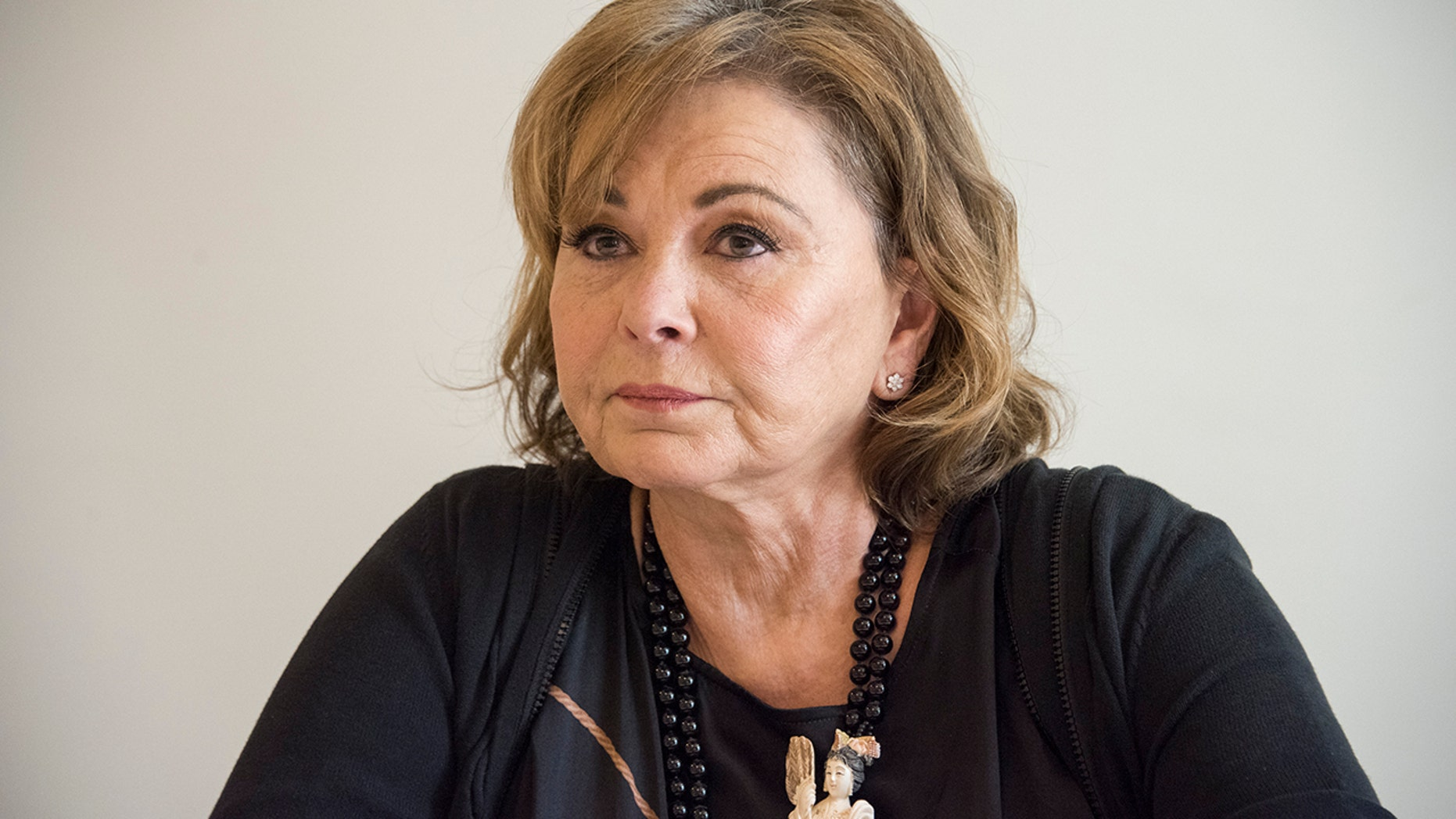 """Roseanne Barr at the """"Roseanne"""" Press Conference at the Four Seasons Hotel on March 23, 2018 in Beverly Hills, California."""