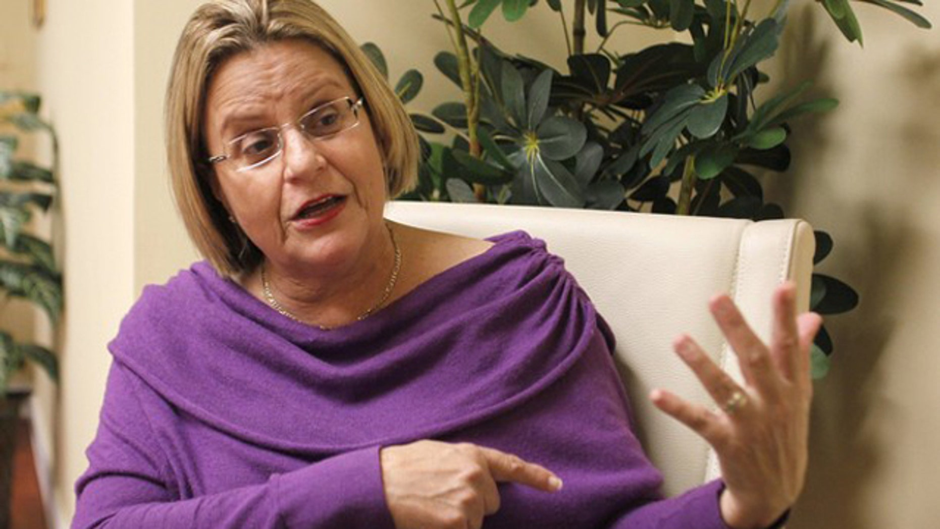 In this Nov. 10, 2010 photo, Rep. Ileana Ros-Lehtinen speaks with Reuters at her office in Miami.