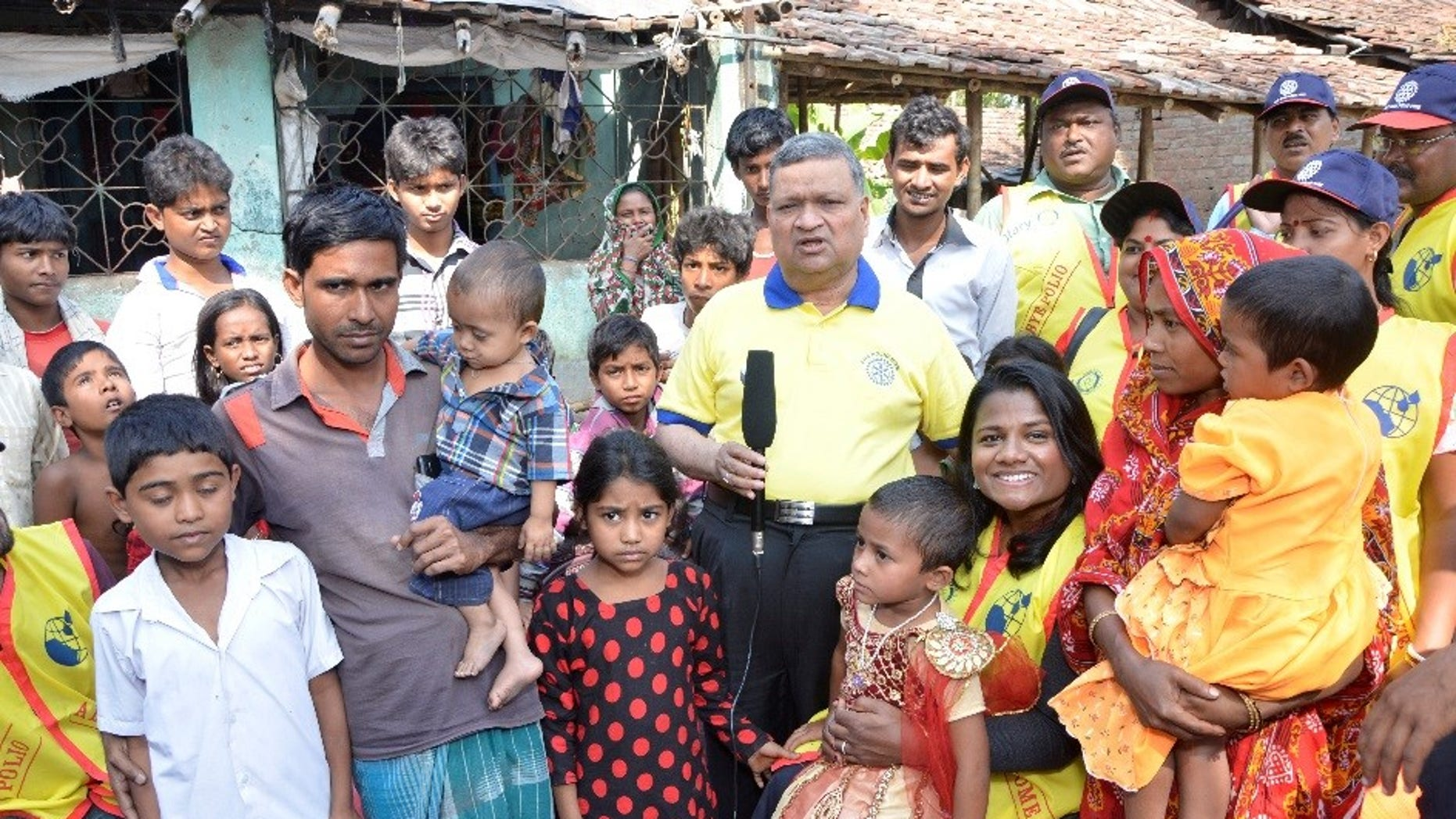 Rukhsar Khatoon with family.  The last polio case in India was reported in 2011 and India was declared polio-free in 2014. This is Rukhsar and her family.