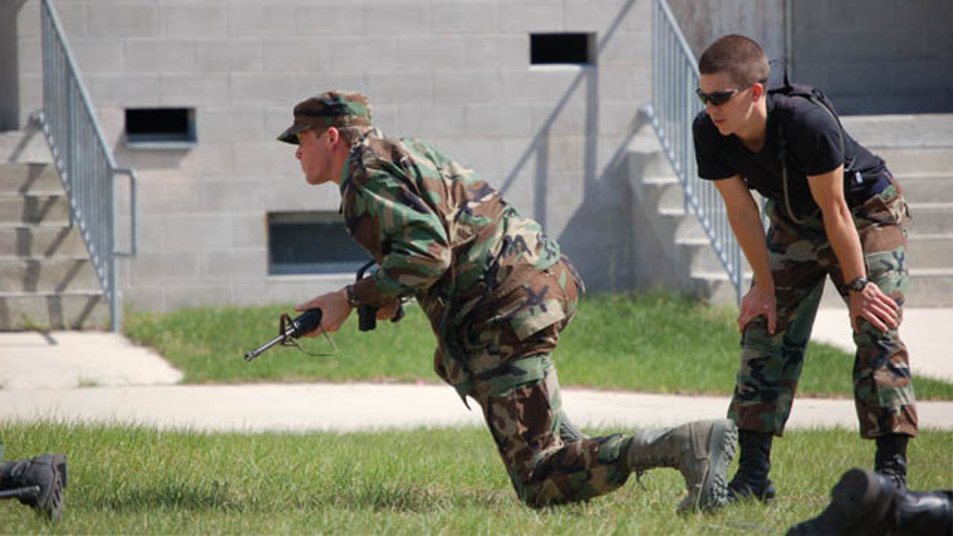 University of Florida ROTC cadets participate in leadership exercise April 25, 2010 at Camp Blanding, Fla.
