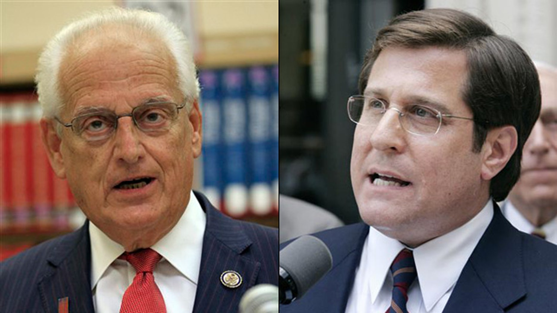 Shown here are New Jersey Democratic Reps. Bill Pascrell, left, and Steve Rothman.
