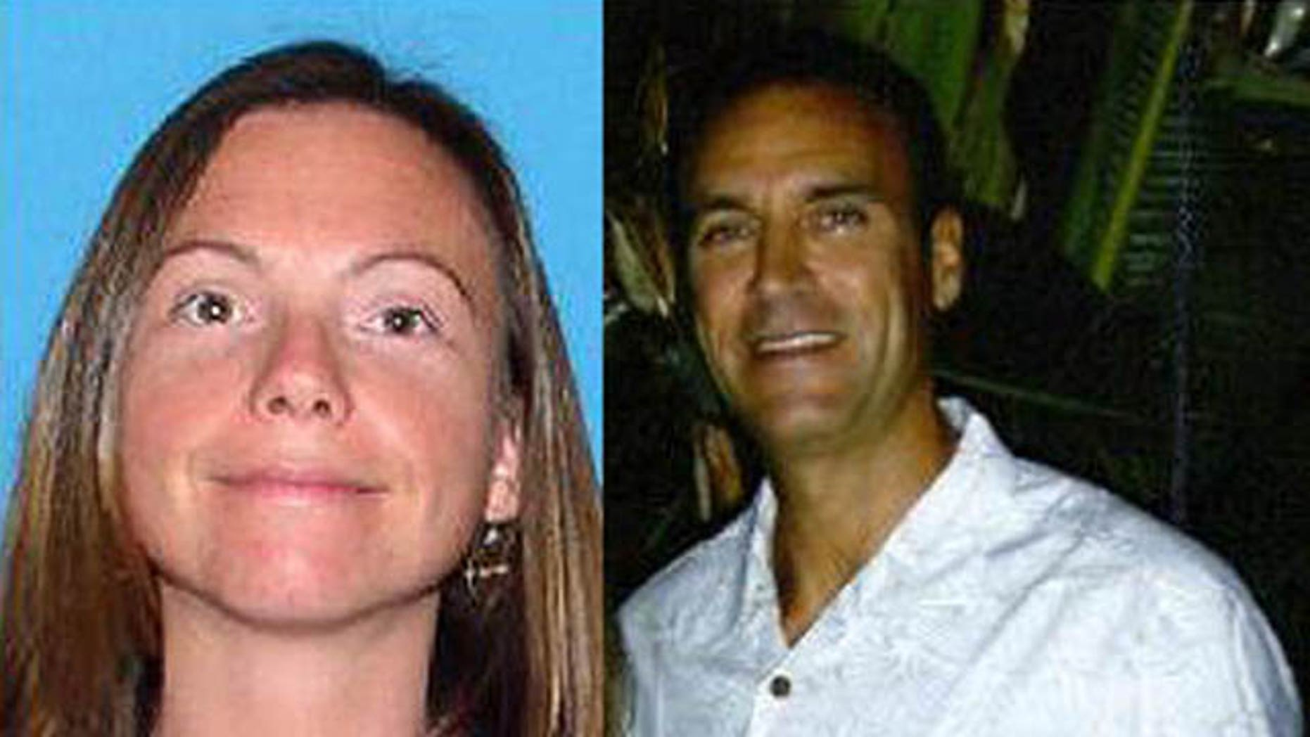 Police recruit Kelly Rothwell, left, was last seen in Pinellas County, Fla., March 12. Police have named her live-in boyfriend, David Perry, right, a suspect in her disappearance.