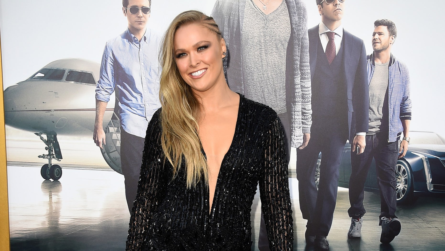 "WESTWOOD, CA - JUNE 01:  Actress Ronda Rousey attends the premiere of Warner Bros. Pictures' ""Entourage"" at Regency Village Theatre on June 1, 2015 in Westwood, California.  (Photo by Frazer Harrison/Getty Images)"