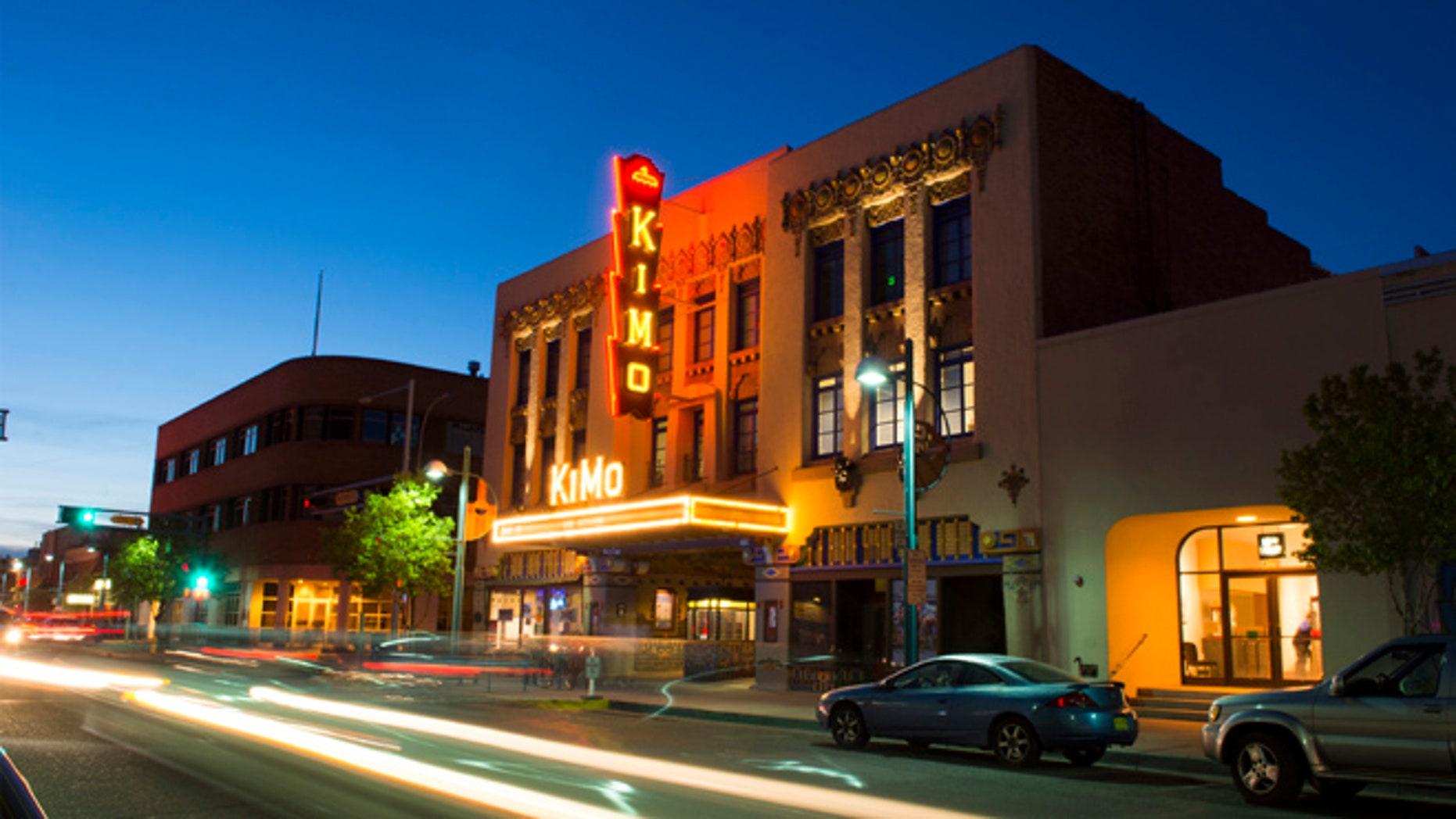 Albuquerque New Mexico Route 66 of Central Avenue of famous historic KIMO Theatre.