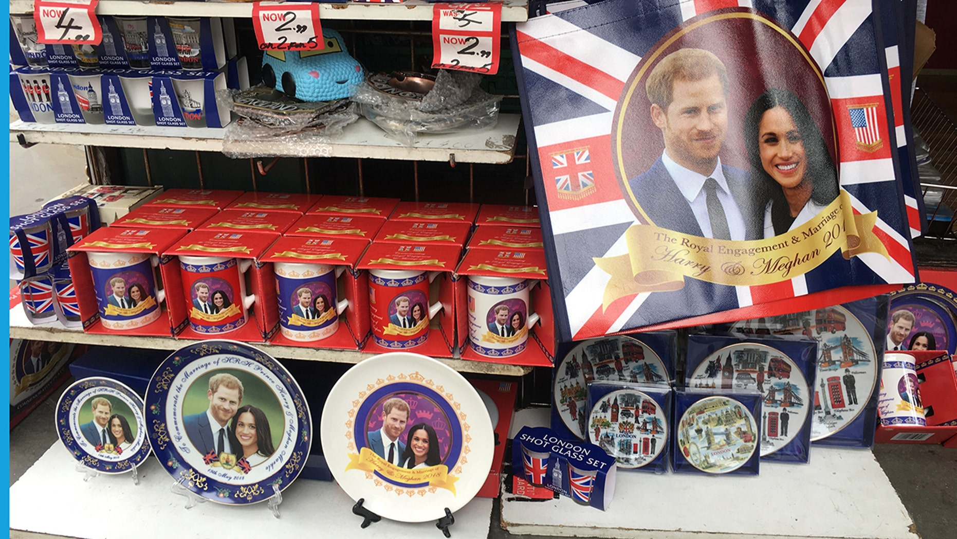 Fans of the royal family can get all sorts of gifts featuring Meghan Markle and Prince Harry to commemorate the big day.