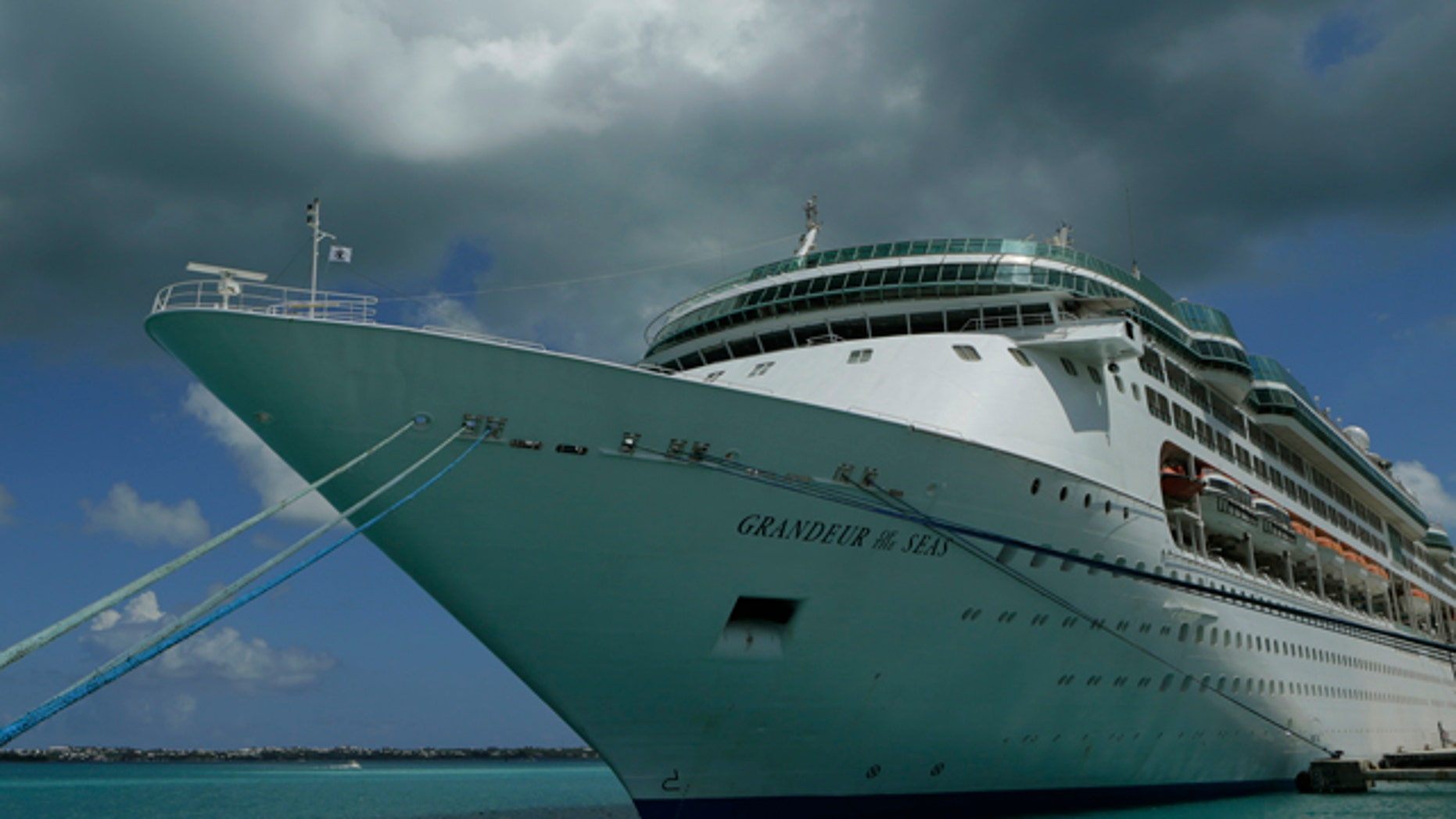 July 15, 2013: The Royal Caribbean cruise ship 'Grandeur of the Seas' is seen  while docked at the Royal Naval Dockyard near the port of Hamilton, Bermuda.