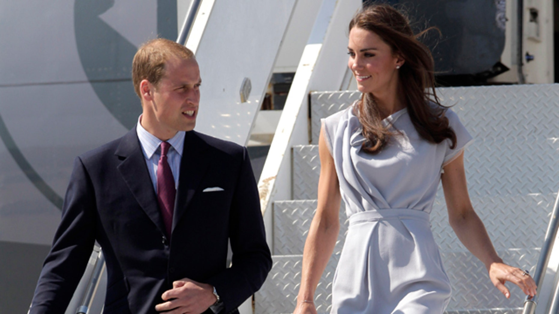 July 8: Prince William and Kate, the Duke and Duchess of Cambridge, arrive at Los Angeles International Airport in Los Angeles.