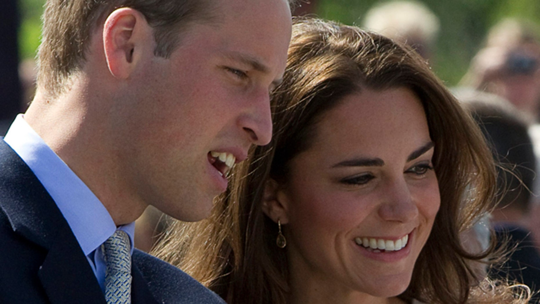 July 5: Prince William, and his wife, Kate, the Duke and Duchess of Cambridge, greet their admirers in Yellowknife, Northwest Territories.