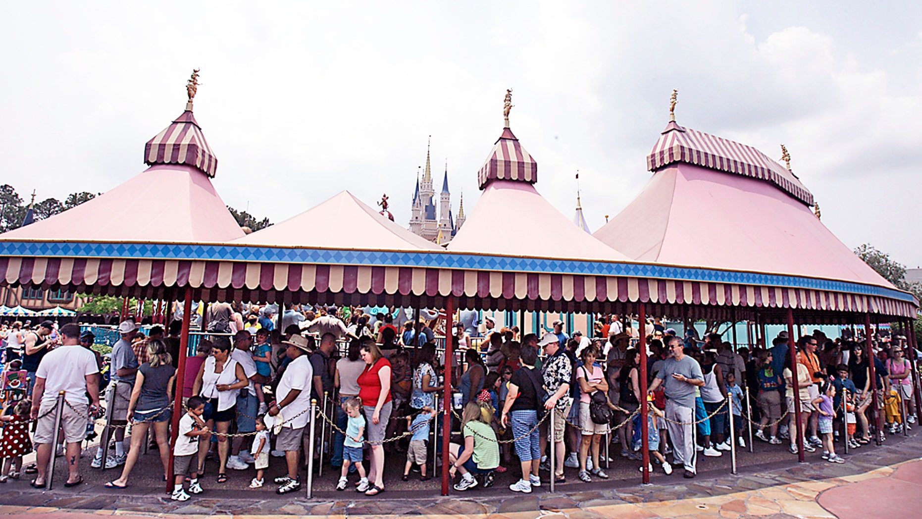 Disney has made major changes to the Dumbo ride at Magic Kingdom at Walt Disney World. Here, guests are seen snaking through the line in this May 2007 file photo.