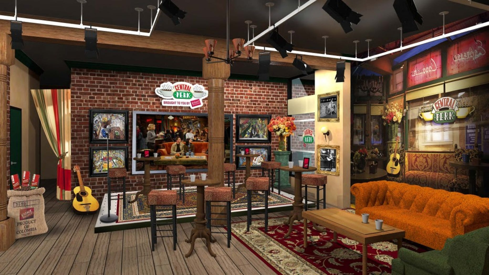 A virtual mockup of the brand new Central Perk.