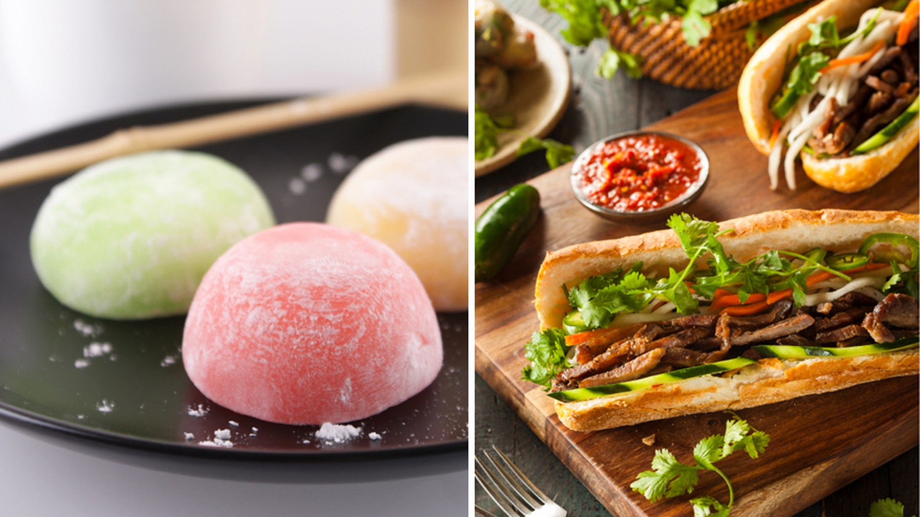 Have you tried mochi (L) or bahn mi (R)?