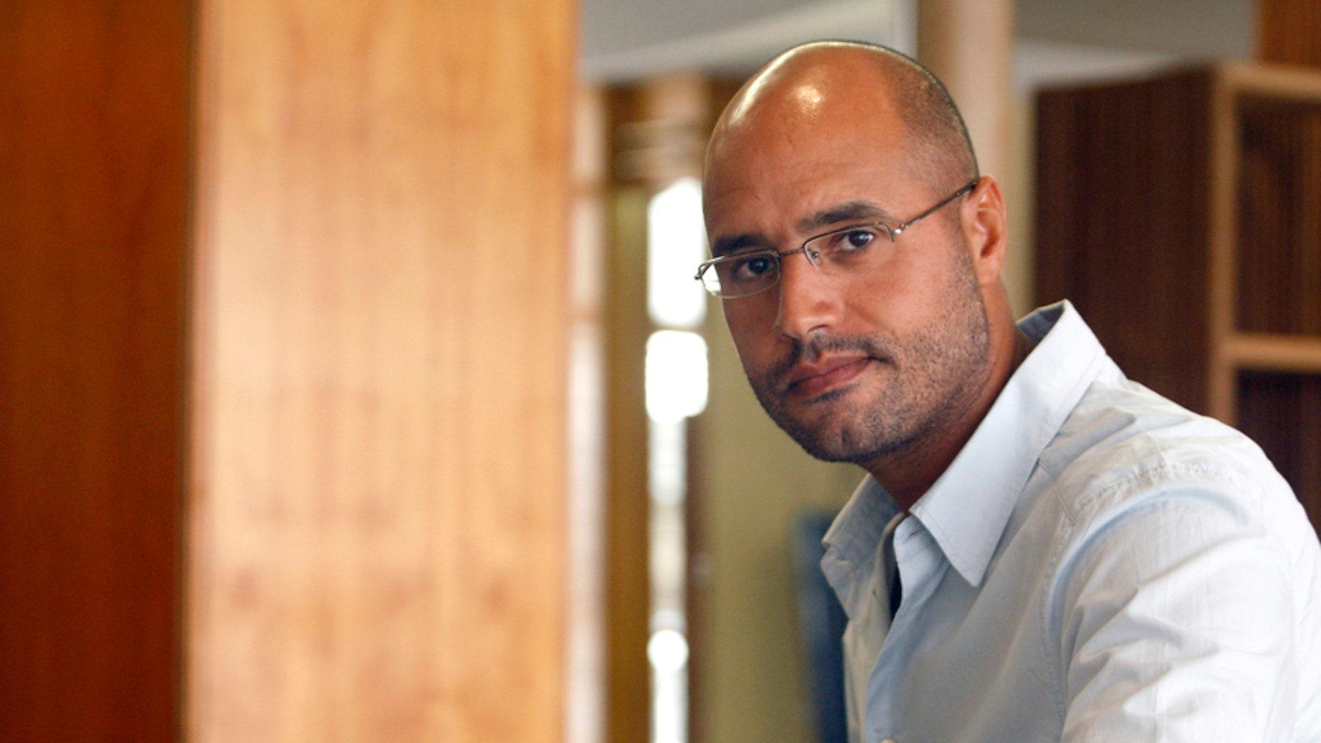 Seif al-Islam, son of ex-Libyan dictator Muammar Qaddafi.
