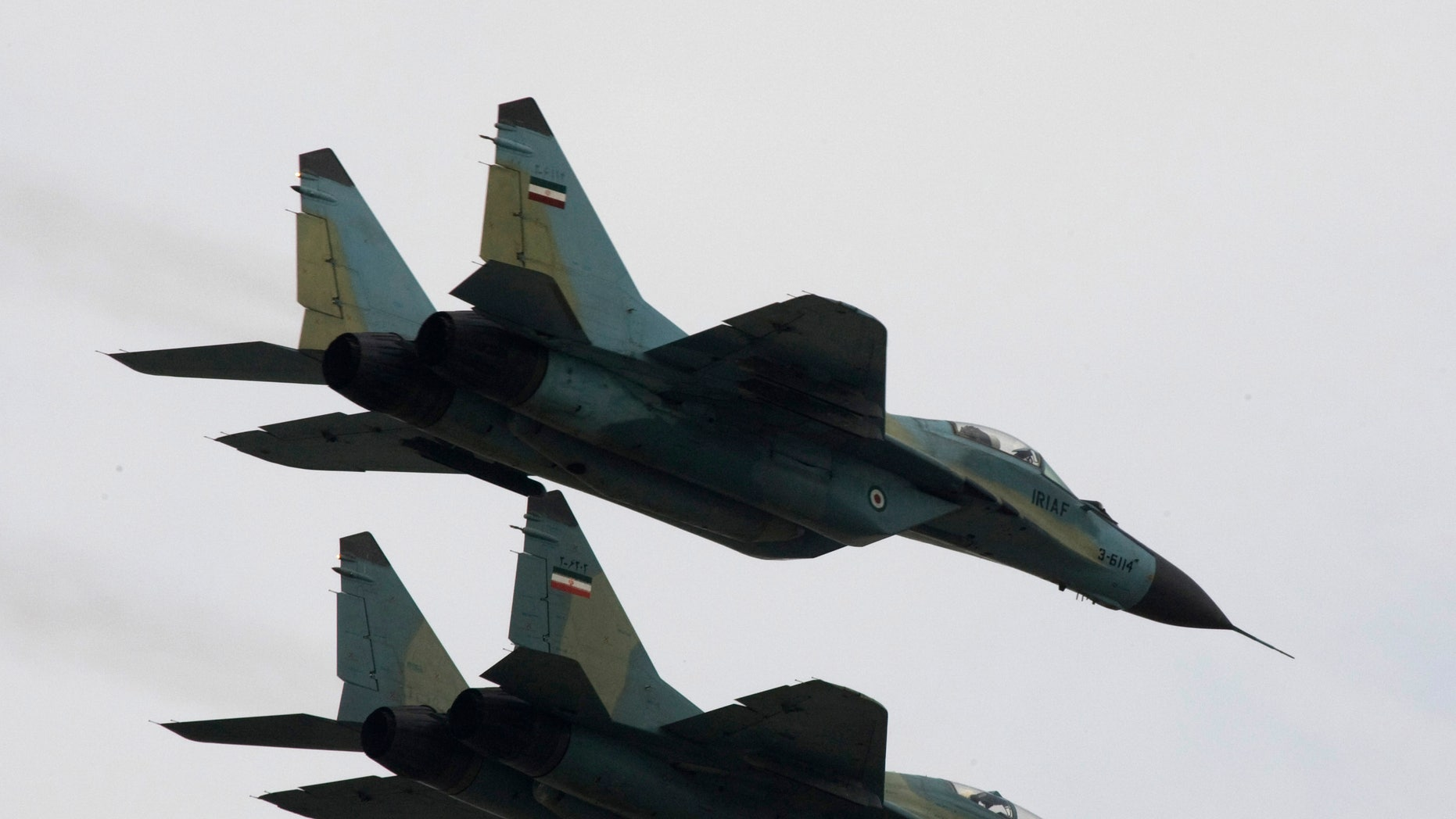 Russian-made Sukhoi fighter jets of the Iranian army. (Reuters)