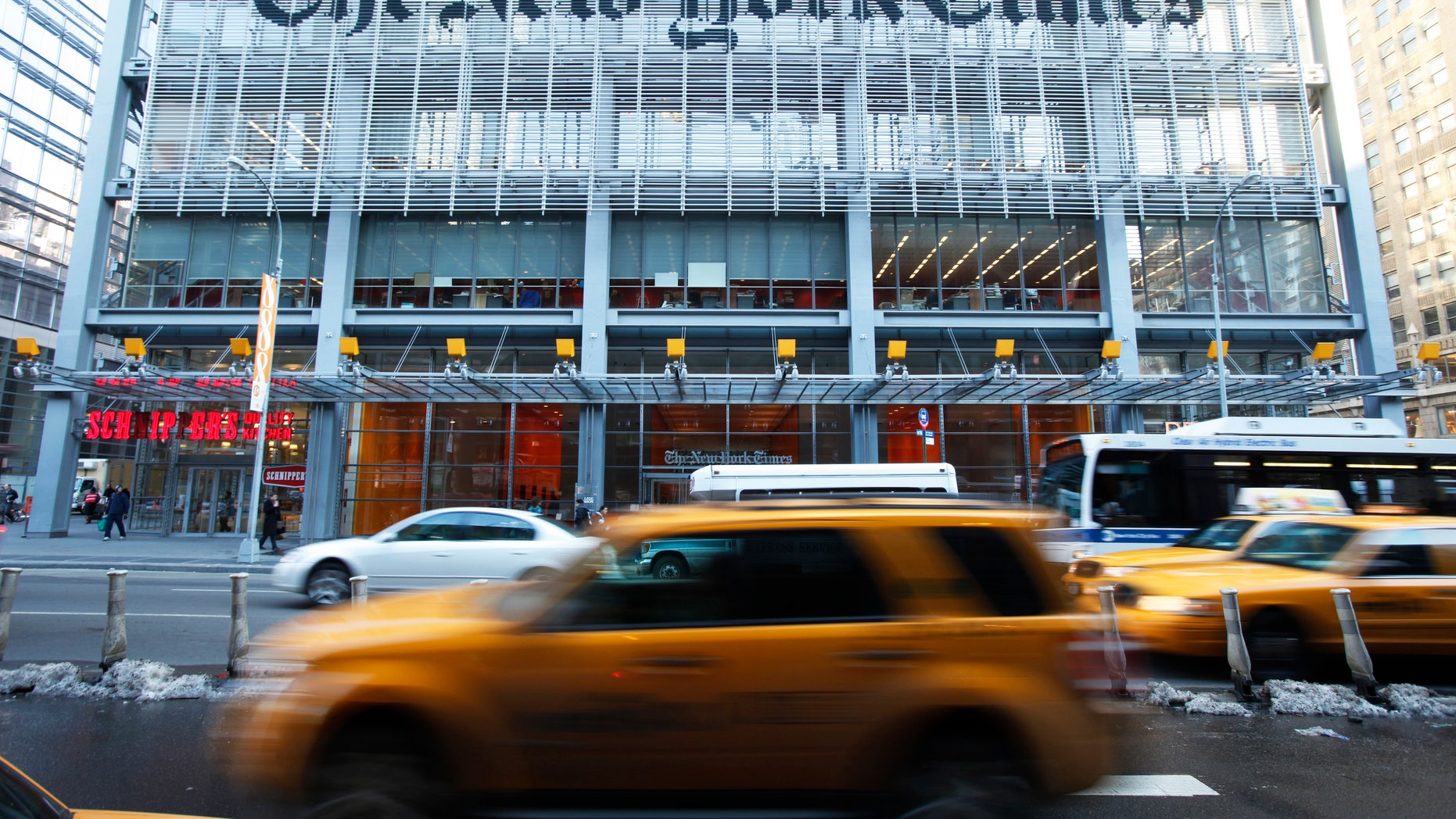 The headquarters of The New York Times.
