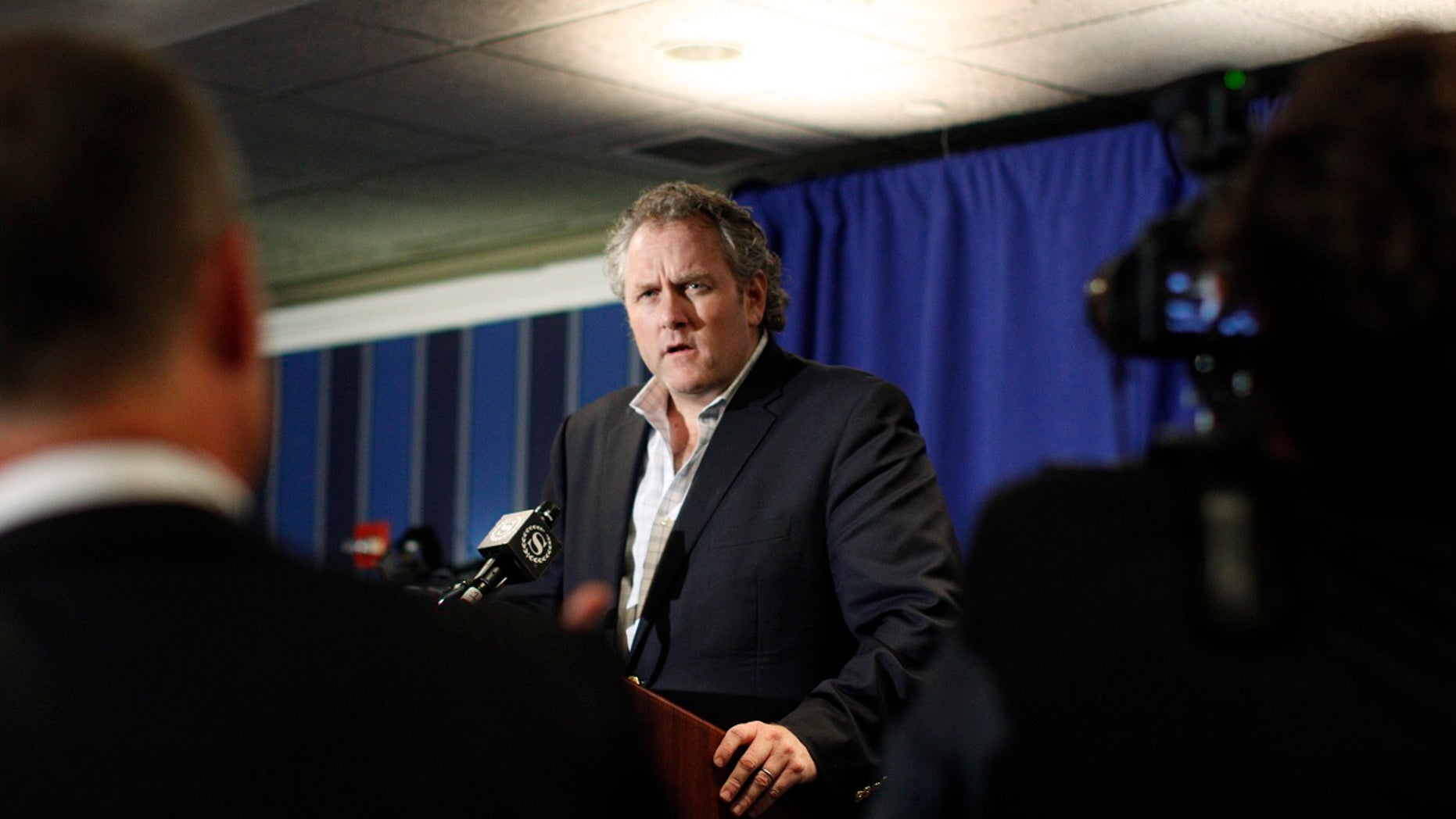 FILE -- June 6, 2011: Andrew Breitbart speaks at a news conference in New York.