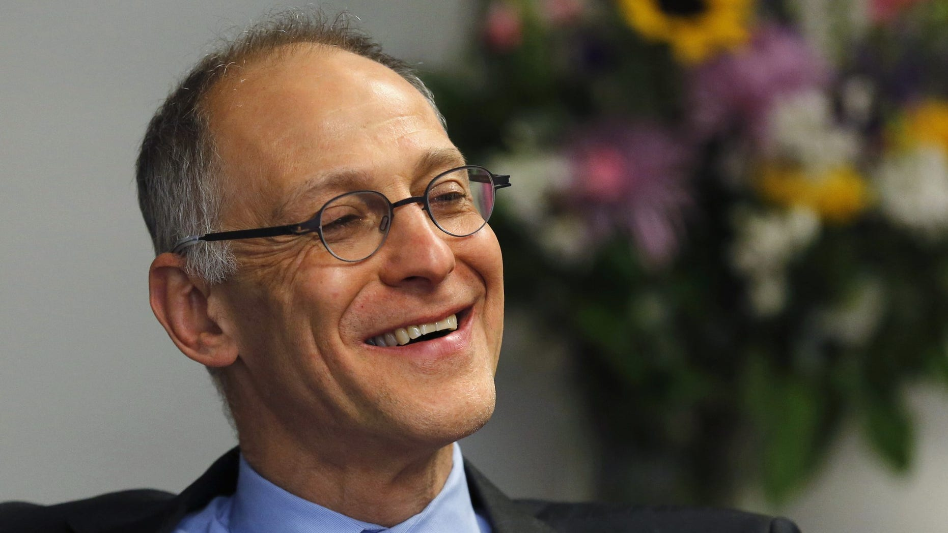 FILE -- Dr. Ezekiel Emanuel, professor of Health Care Management at the Wharton School of the University of Pennsylvania, is interviewed at the Reuters Health Summit 2014 in Washington April 1, 2014.