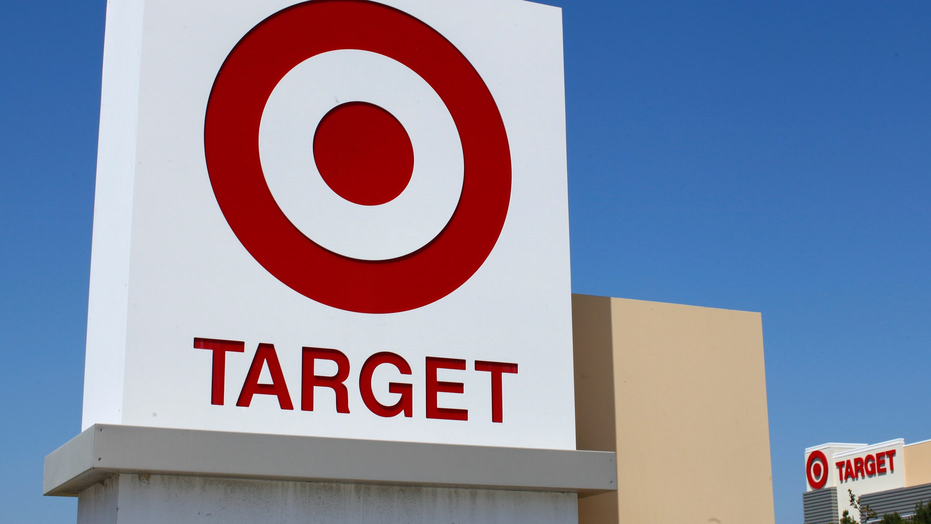 A Target sign is pictured next to one of their stores in Vista, California April 16, 2014.   REUTERS/Mike Blake   (UNITED STATES - Tags: BUSINESS) - RTR3LKGA