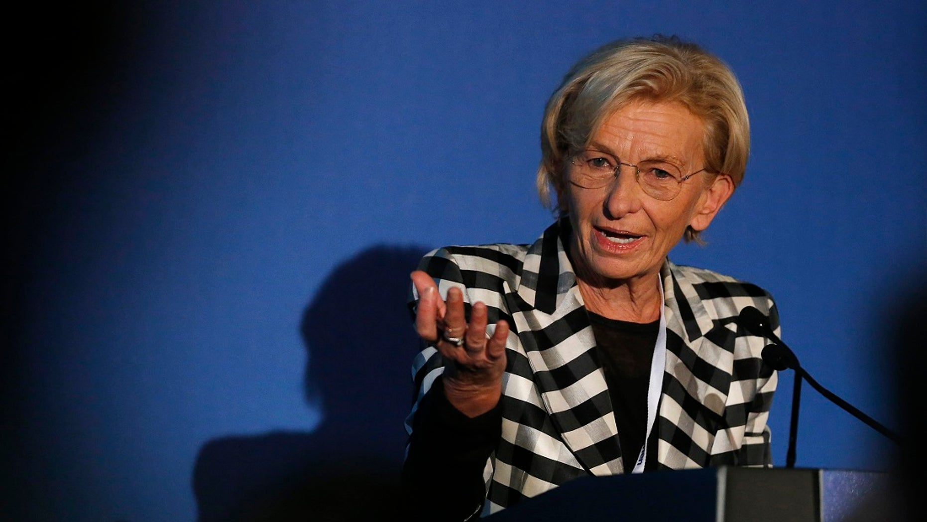 Italy's former Foreign Minister Emma Bonino spoke at a Catholic church about immigration on Wednesday despite protests from pro-life supporters. (Reuters)