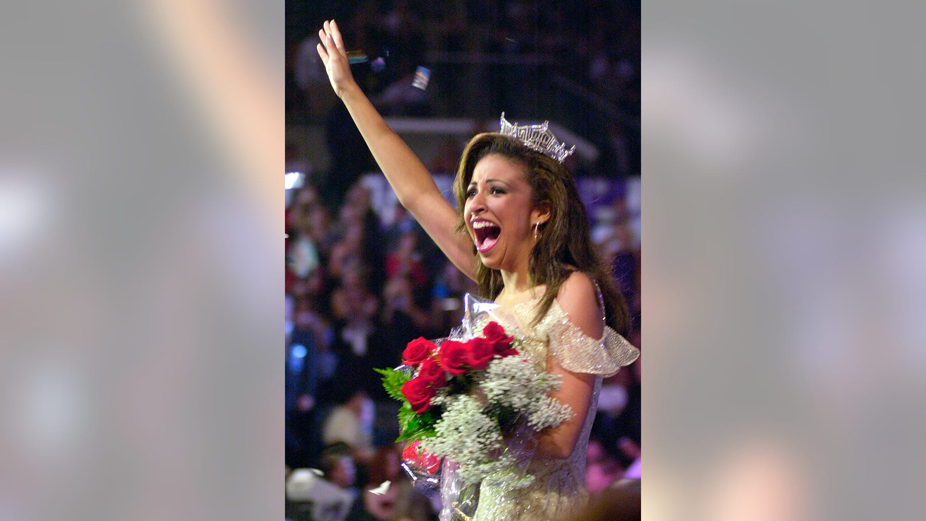 Miss Illinois Erika Harold is crowned Miss America 2003 in Atlantic City, N.J., Sept. 21, 2002.