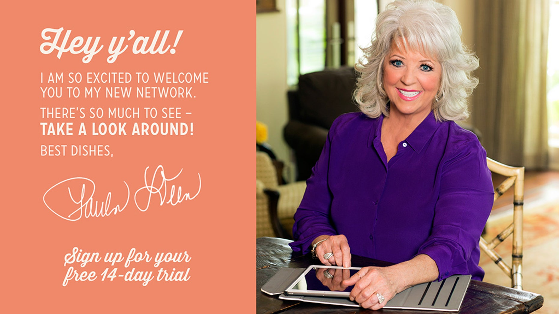 Paula Deen's new digital lifestyle network launches tomorrow.