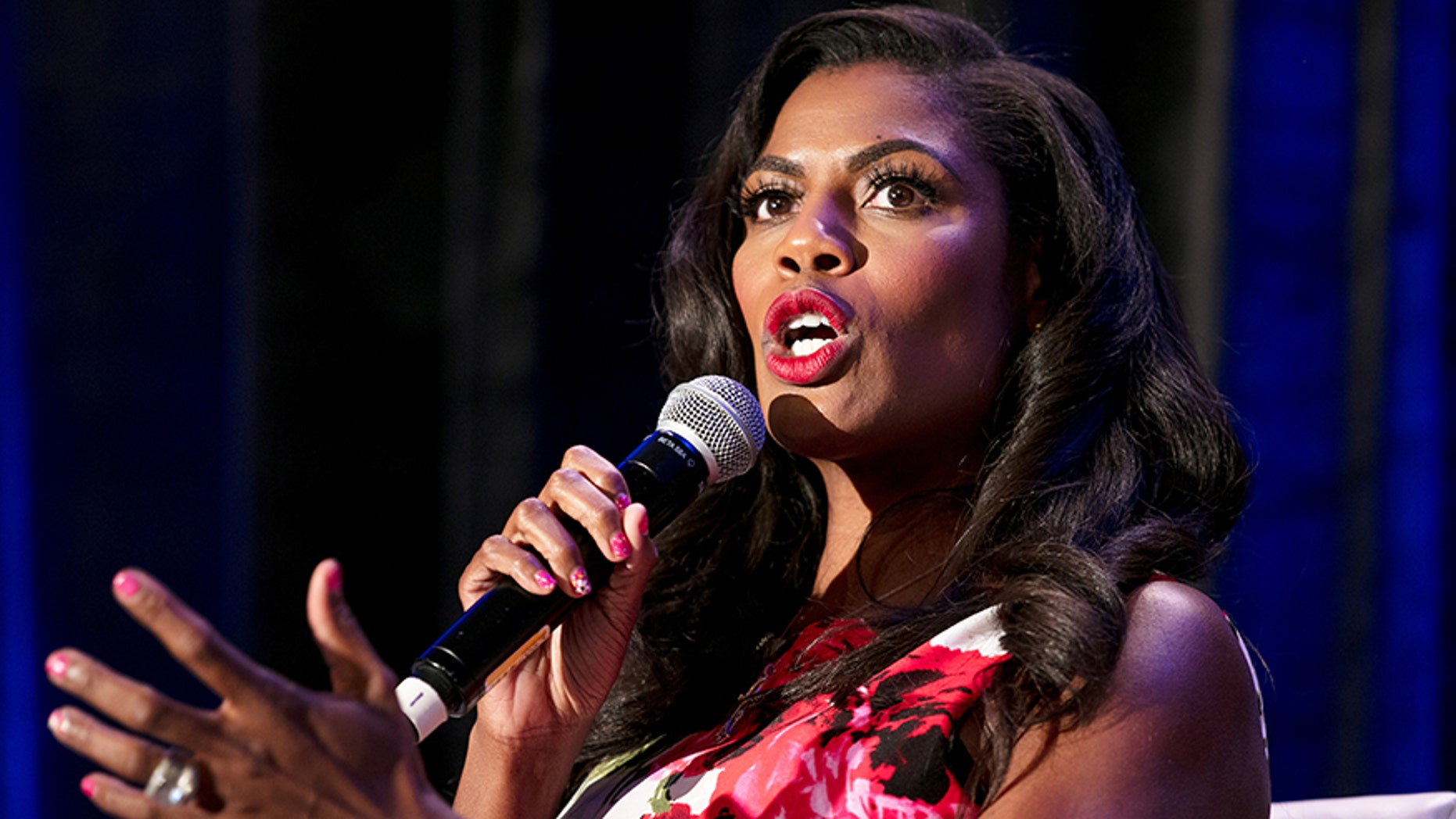 White House aide Omarosa Manigault speaks during a panel discussion at the National Association of Black Journalists convention in New Orleans, Louisiana, U.S. August 11, 2017.  REUTERS/Omar Negrin - RTS1BFSP