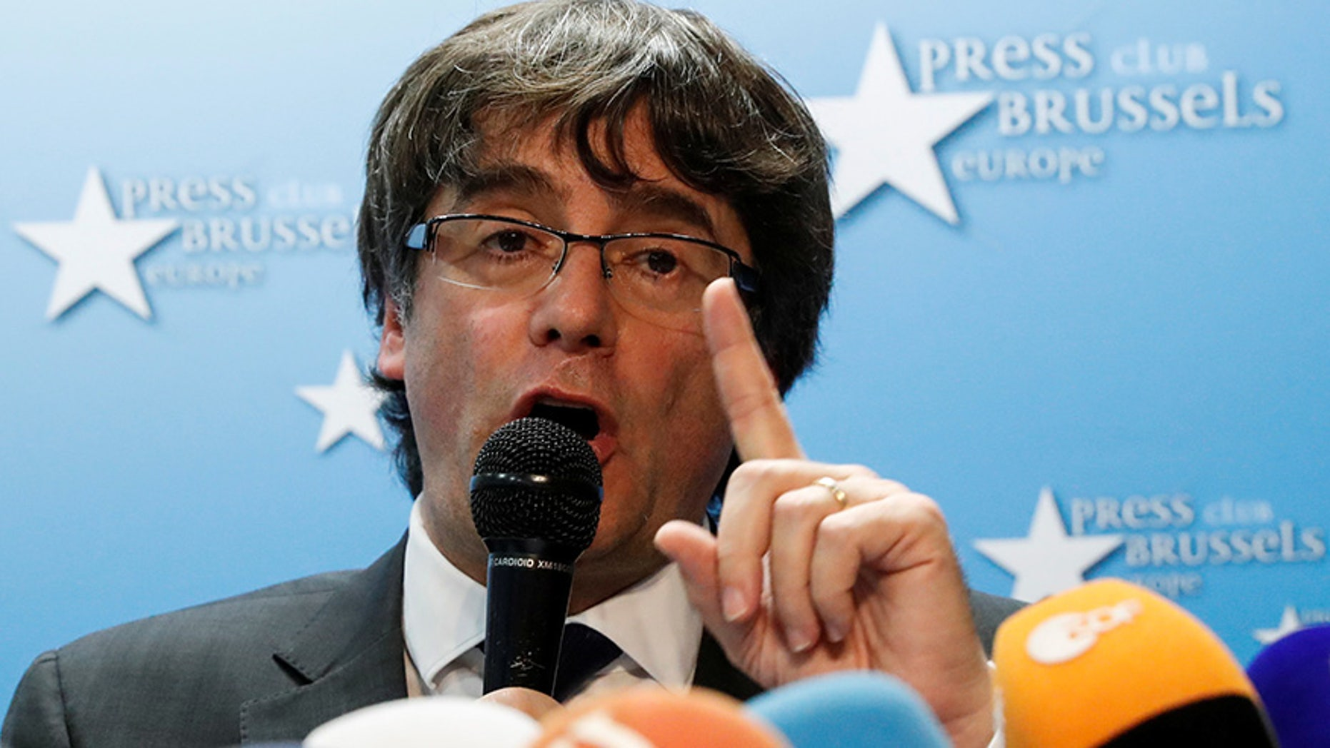 An international arrest warrant has been sought for sacked Catalan leader Carles Puigdemont.