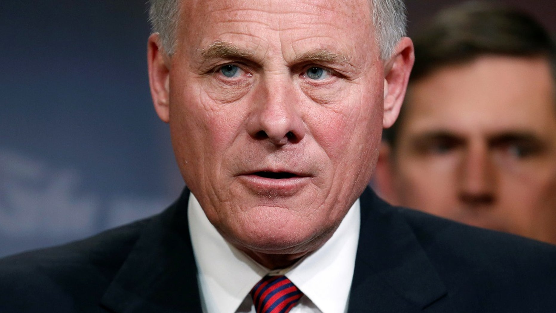 U.S. Sen. Richard Burr, R-N.C., chairman of the Senate Intelligence Committee, speaks to reporters about the panel's findings on threats to U.S. election infrastructure, in March 2018.