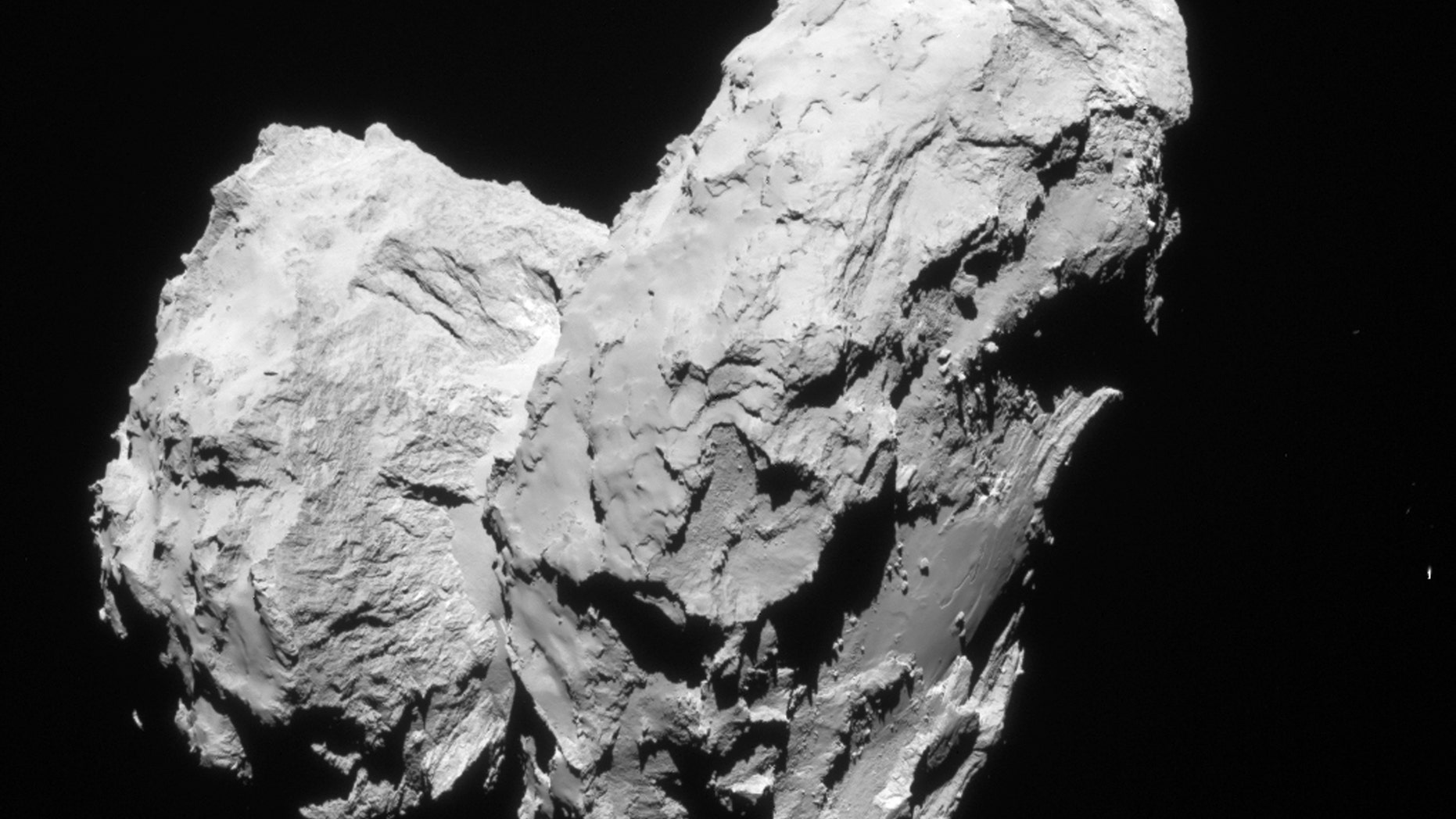 Rosetta's comet is shown in this handout photo taken August 22, 2014 and provided by the European Space Agency, September 28, 2015.