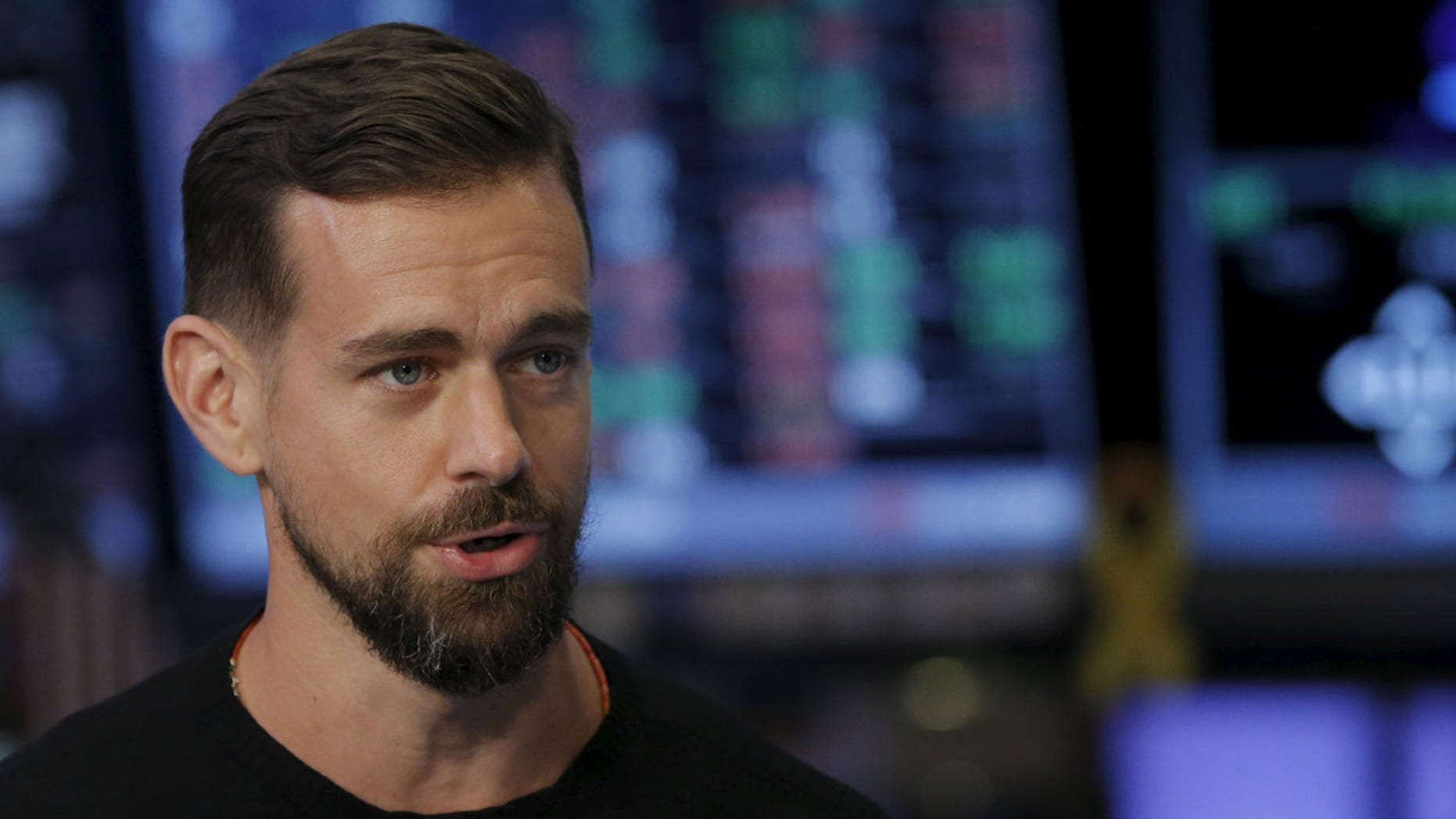 Jack Dorsey, CEO of Square and CEO of Twitter, speaks during an interview with CNBC following the IPO for Square Inc., on the floor of the New York Stock Exchange November 19, 2015.