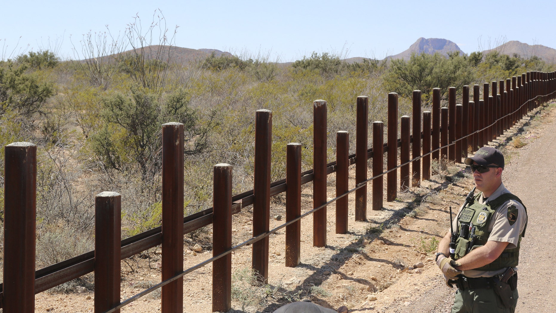 Border fence between the United States and Mexico near Douglas, Arizona March 18, 2016.
