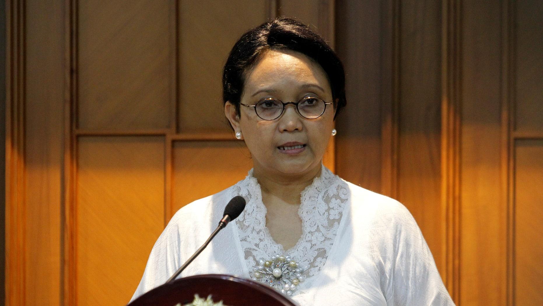 Indonesia's Foreign Minister Retno Marsudi in July.