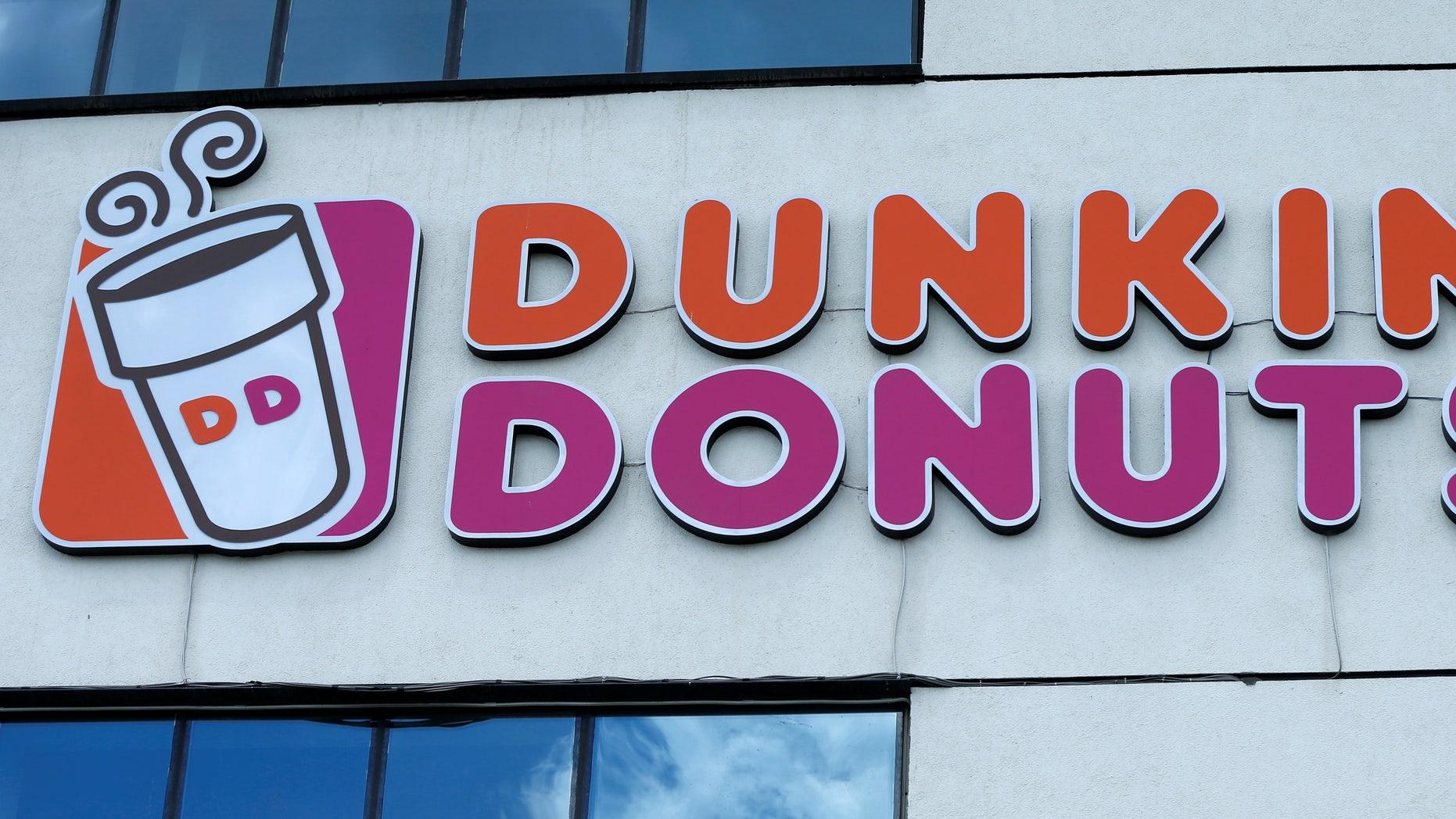 The logo of Dunkin' Donuts is on display in Tbilisi, Georgia, July 13, 2016. REUTERS/David Mdzinarishvili - RTSHVQ9