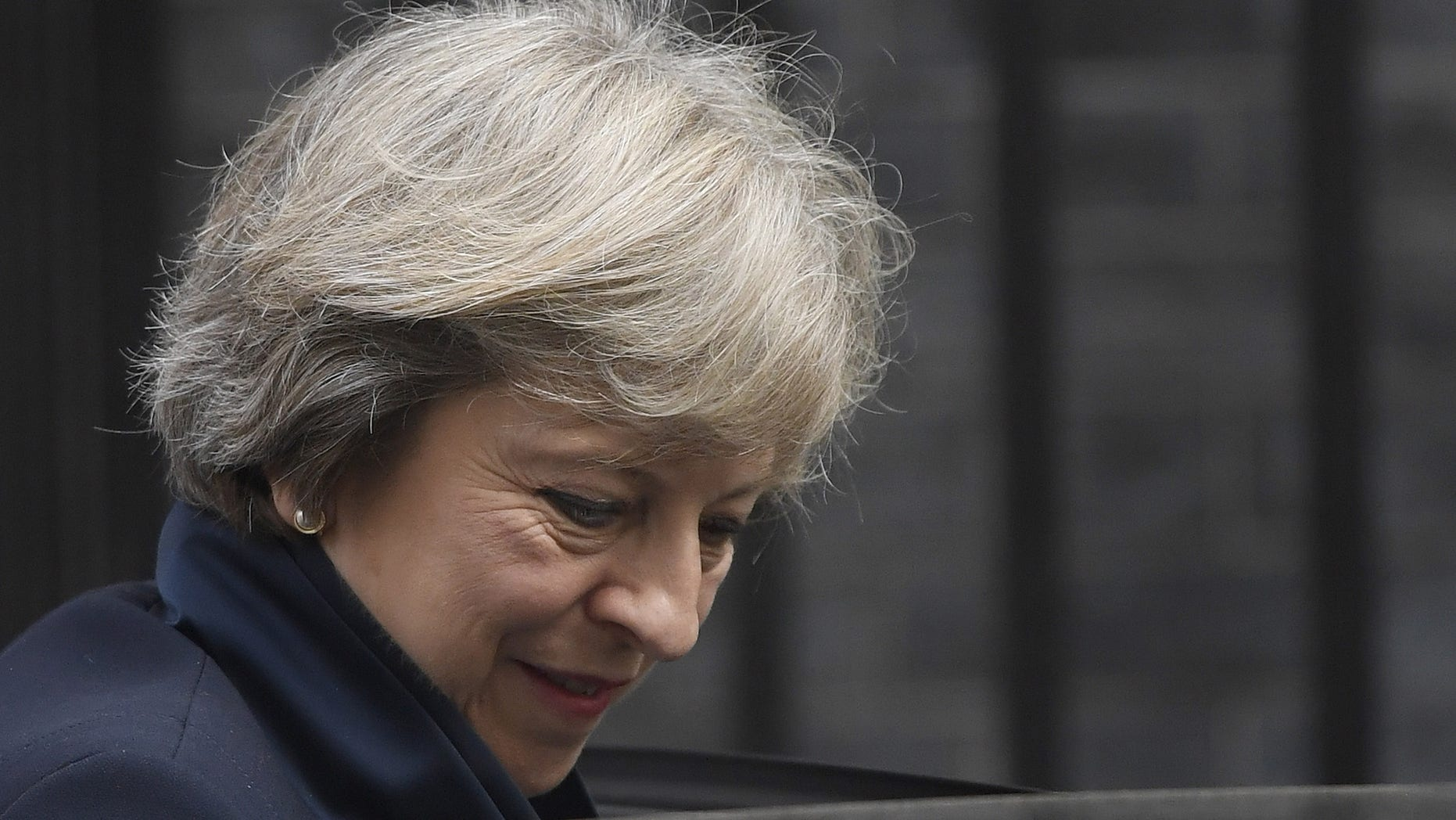 September 14, 2016: Britain's Prime Minister Theresa May leaves 10 Downing Street in central London, Britain.