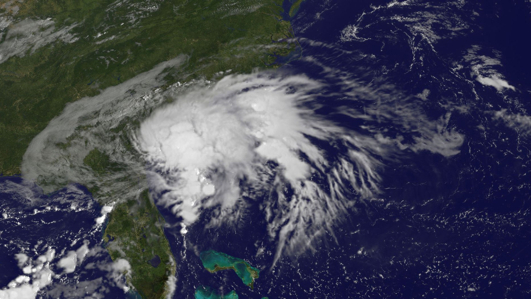 Tropical Storm Julia is seen in an image from NOAA's GOES-East satellite