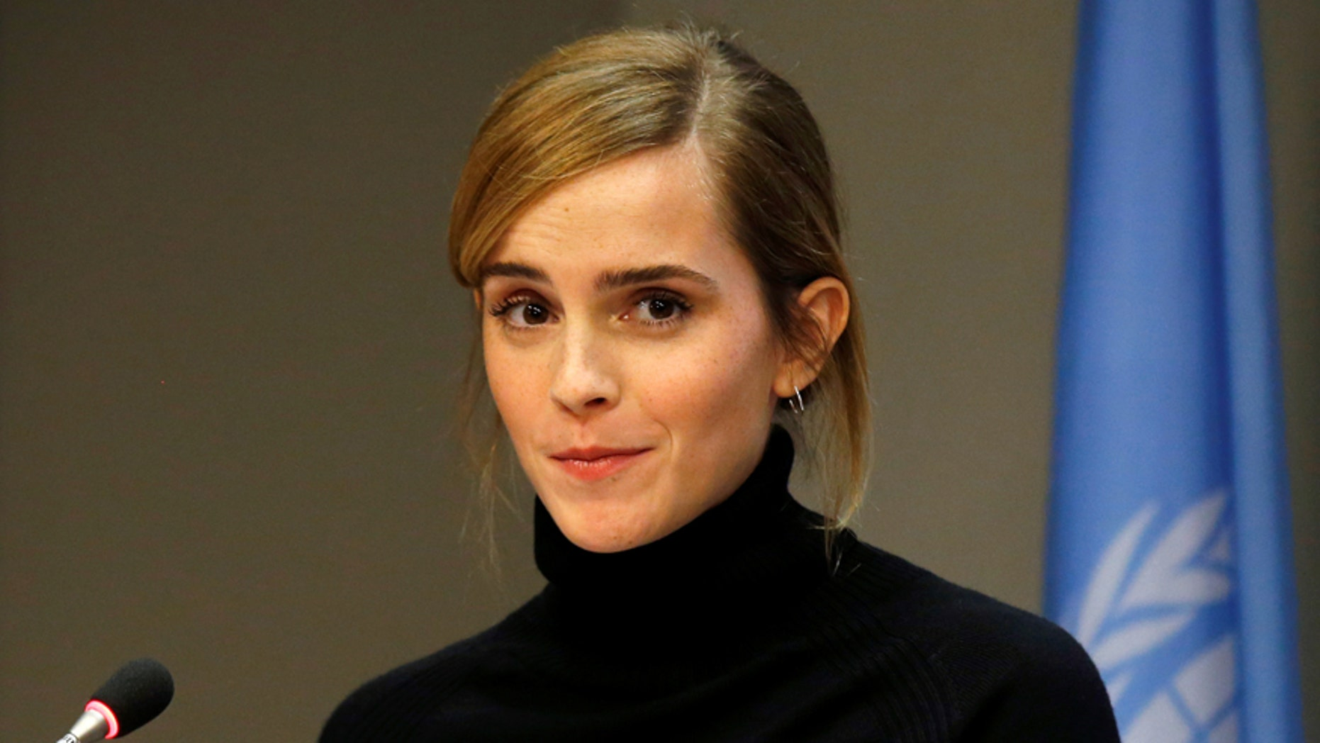 File photo: UN Women's Goodwill Ambassador, Emma Watson, speaks during a news conference to launch the HeForShe IMPACT on the sidelines of the United Nations General Assembly at United Nations headquarters in New York City, U.S. September 20, 2016. (REUTERS/Brendan McDermid)