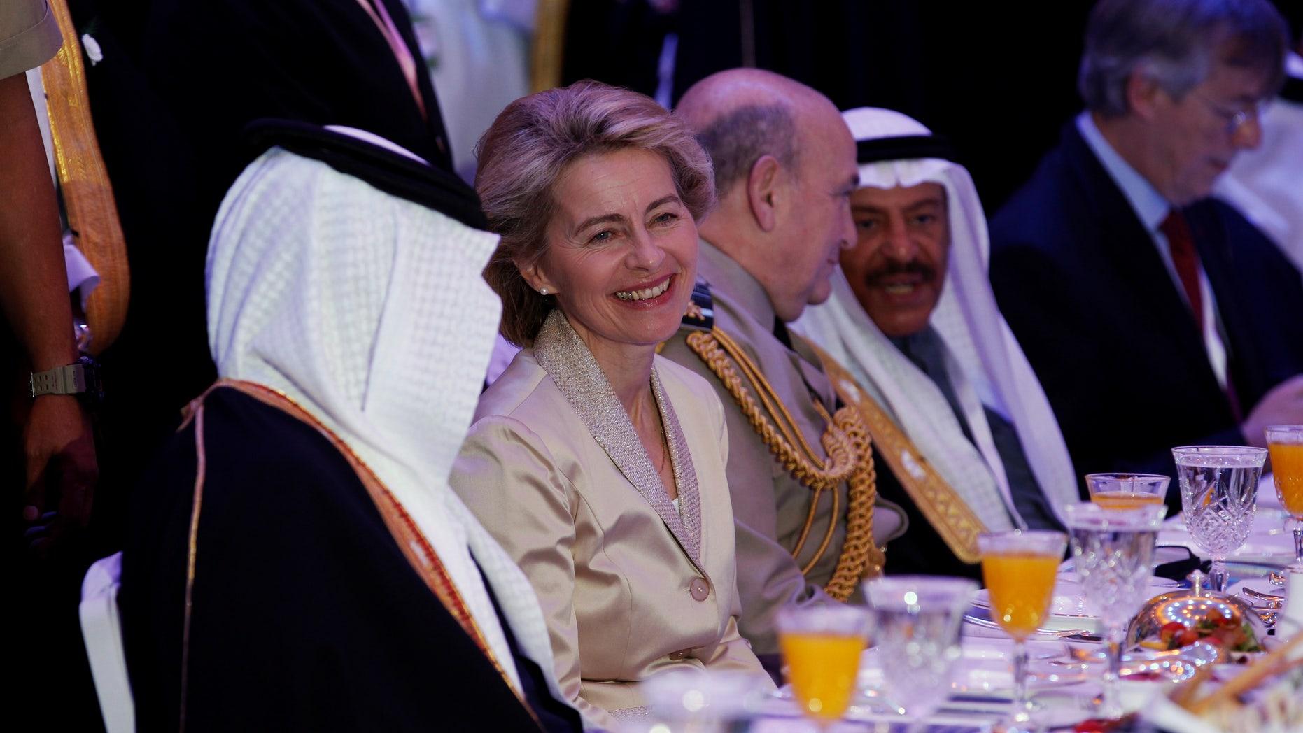 Germany's Defense Minister Ursula von der Leyen at a security summit in Manama, Bahrain, on December 9.