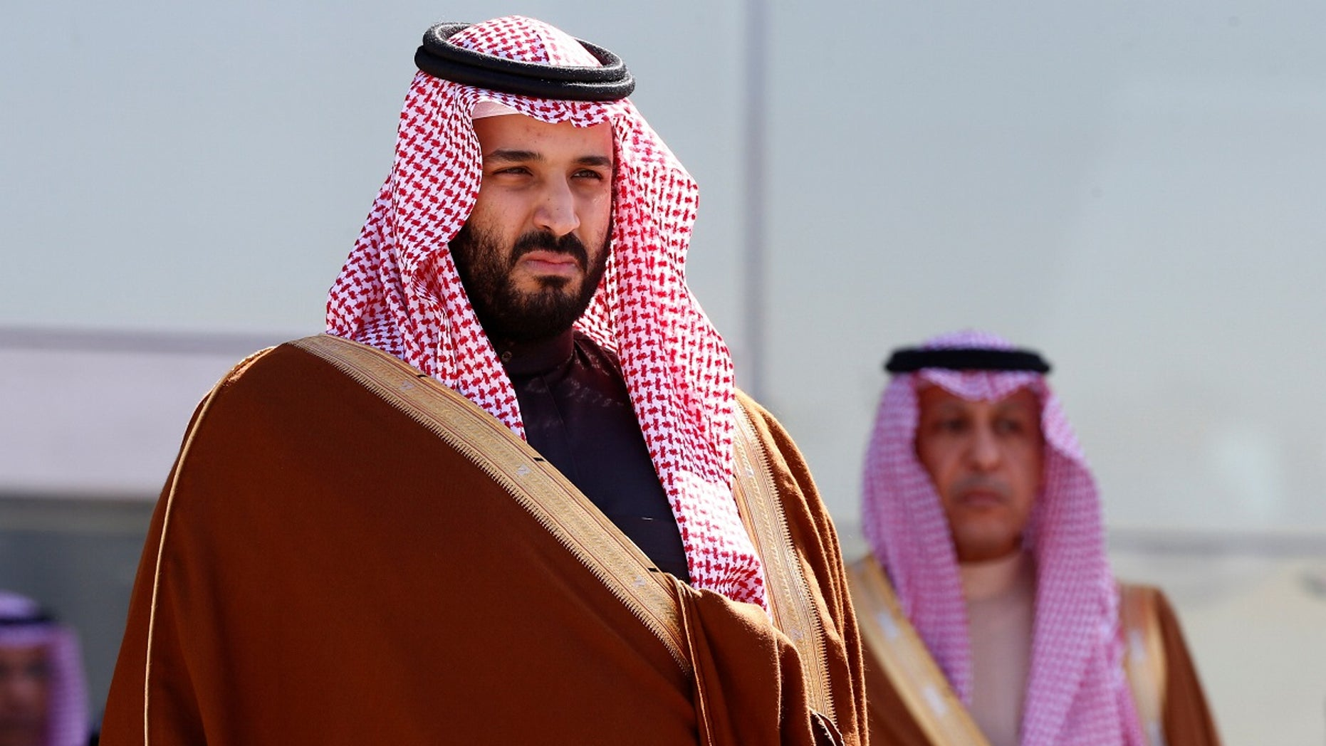 Saudi Deputy Crown Prince Mohammed bin Salman attends a graduation ceremony and air show marking the 50th anniversary of the founding of King Faisal Air College in Riyadh, Saudi Arabia, January 25, 2017.