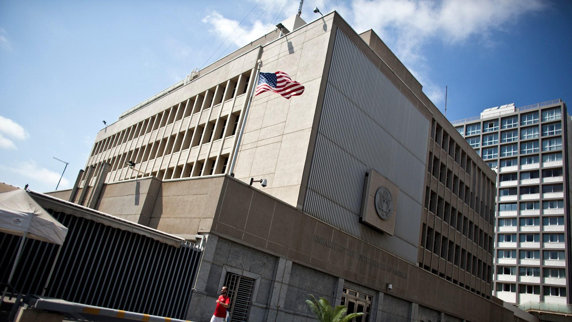 The U.S. Embassy in Tel Aviv.