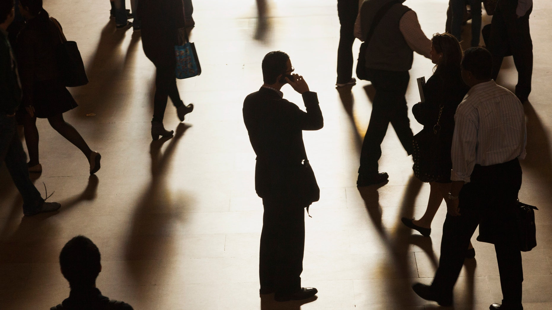 File photo: A man stands in the middle of Grand Central Terminal as he speaks on a cell phone in New York, September 25, 2013. (REUTERS/Zoran Milich)