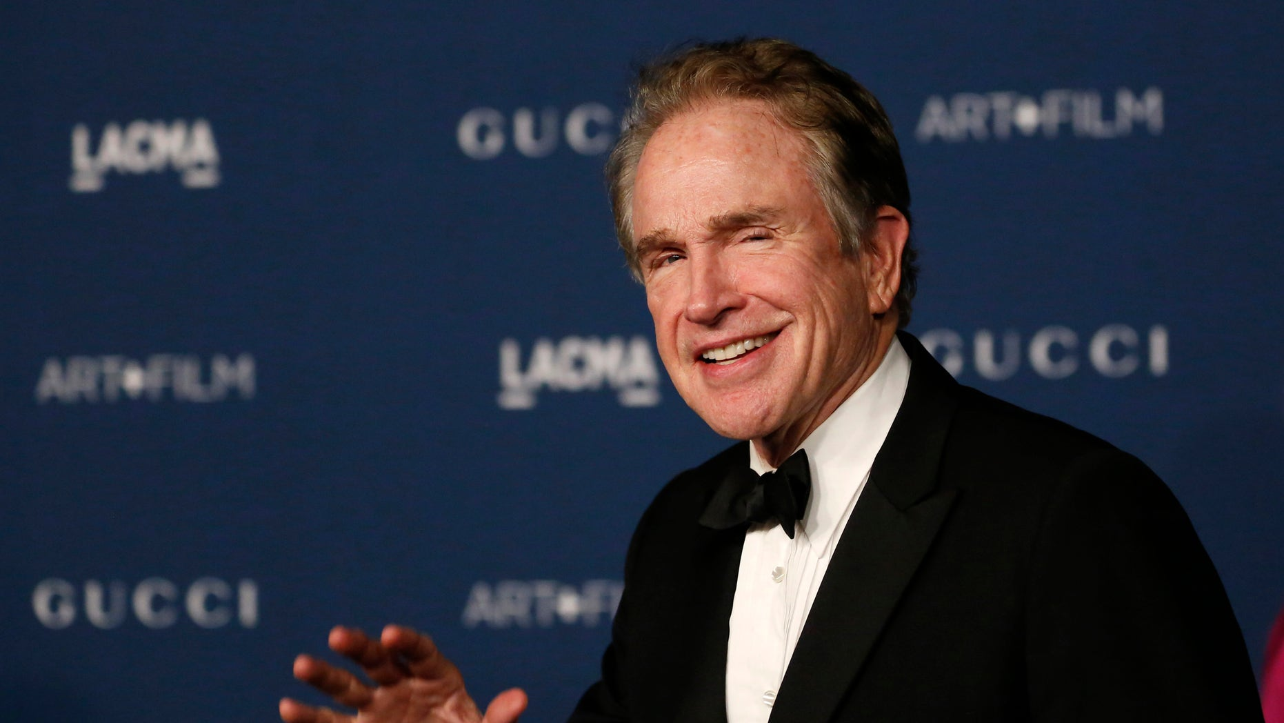 Actor Warren Beatty arrives at the Los Angeles County Museum of Art (LACMA) 2013 Art+Film Gala in Los Angeles, California November 2, 2013.