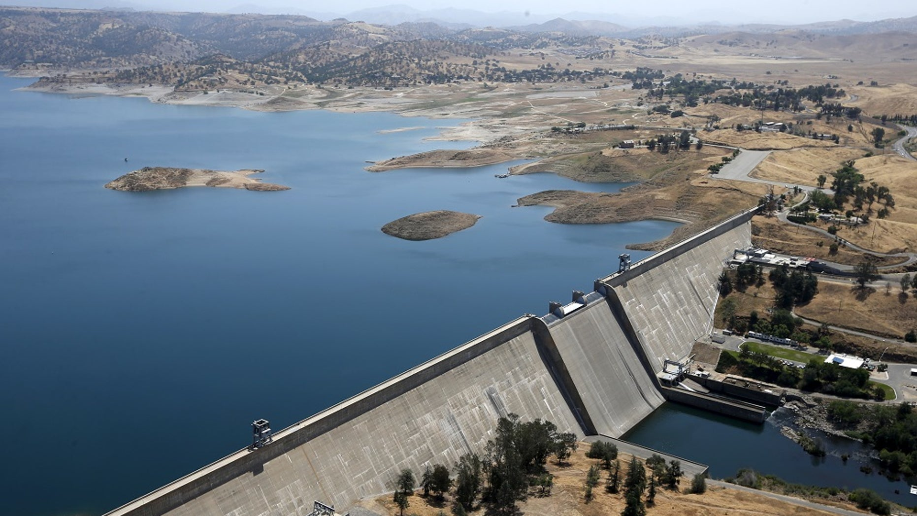 Millerton Lake, on top of California's Friant Dam in Friant. On Tuesday California regulators adopted new rules to supplement the state's 36 reservoirs with recycled water.